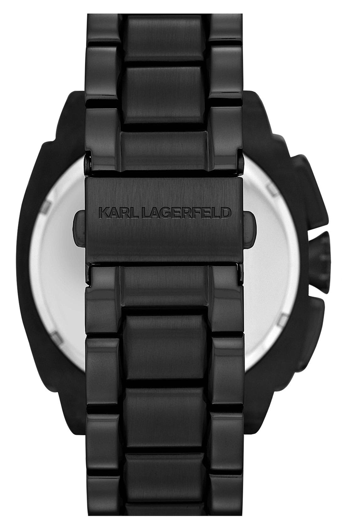 Alternate Image 3  - KARL LAGERFELD 'Keeper' Chronograph Bracelet Watch, 46mm