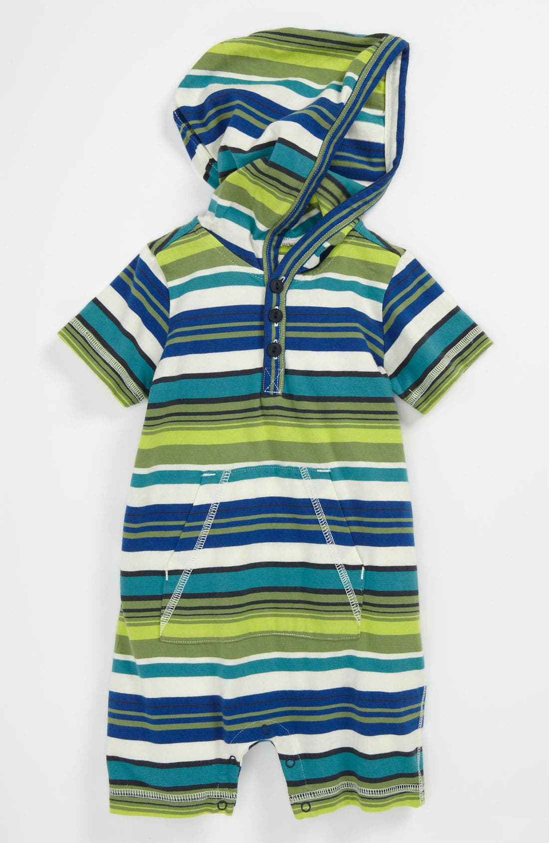Alternate Image 1 Selected - Tea Collection 'Zola' Stripe Romper (Infant)