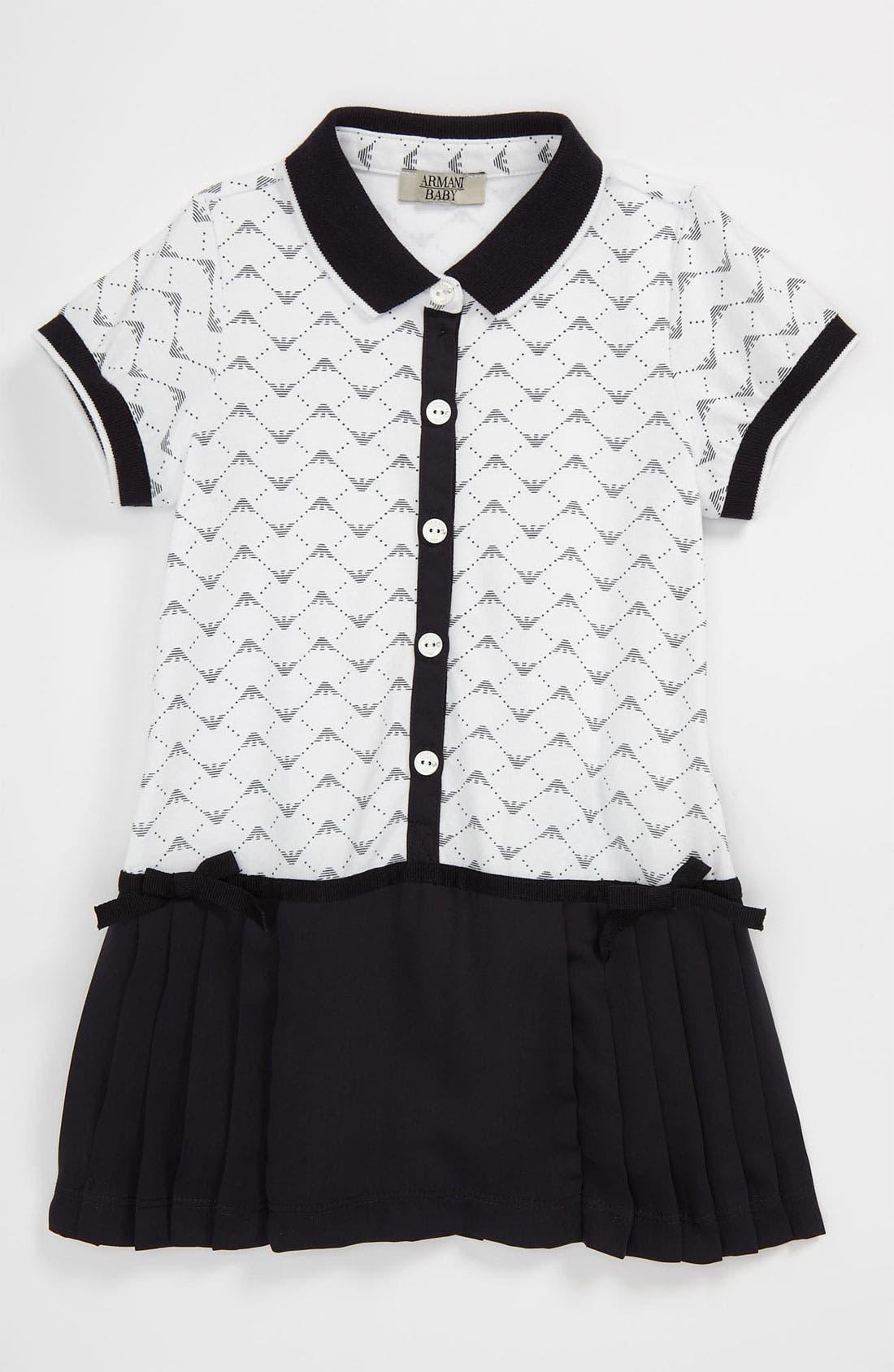 Alternate Image 1 Selected - Armani Junior Tennis Dress (Baby)
