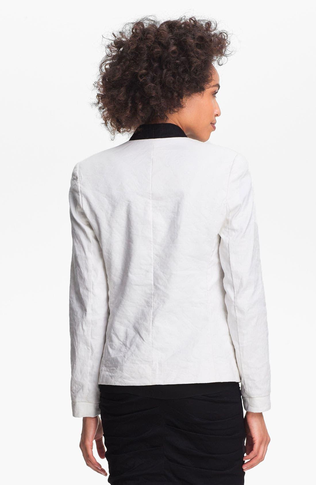 Alternate Image 2  - Nicole Miller Crinkled Jacket