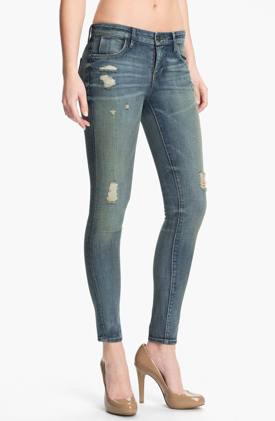 Alternate Image 1 Selected - KUT from the Kloth 'Brigitte' Skinny Ankle Jeans (Escape)