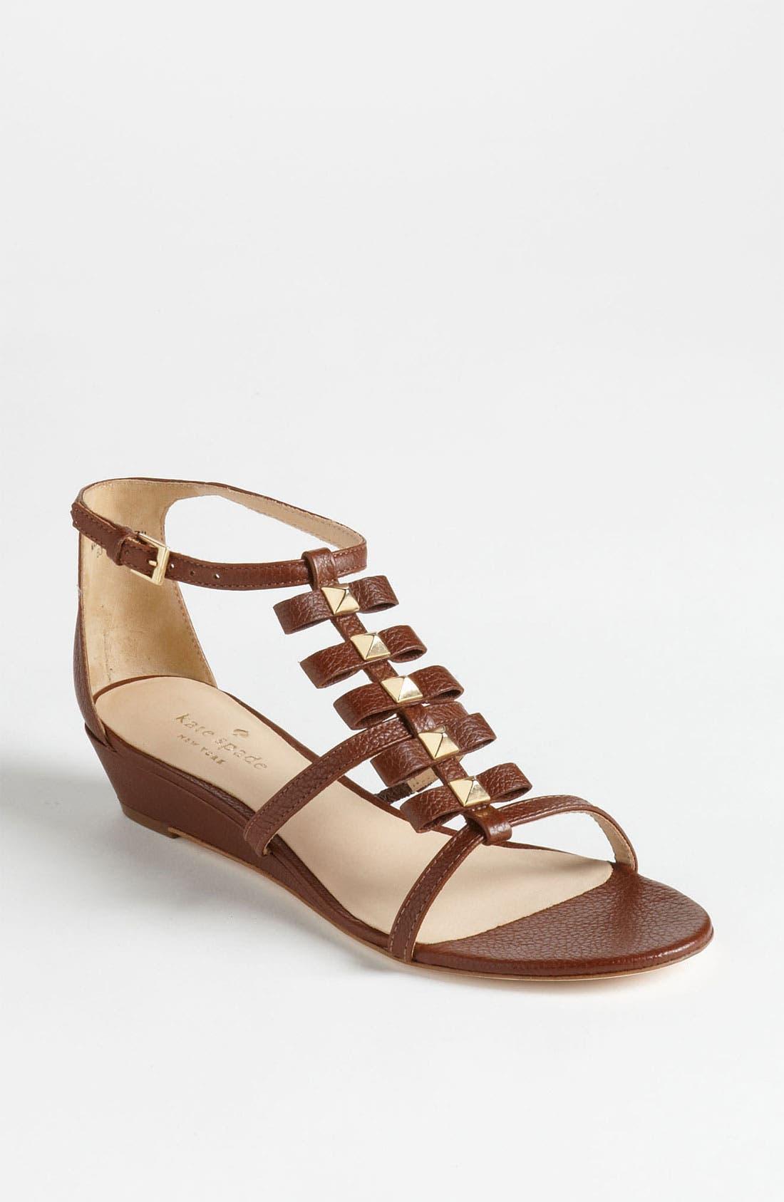 'vilina' sandal,                         Main,                         color, Luggage Tumbled Calf