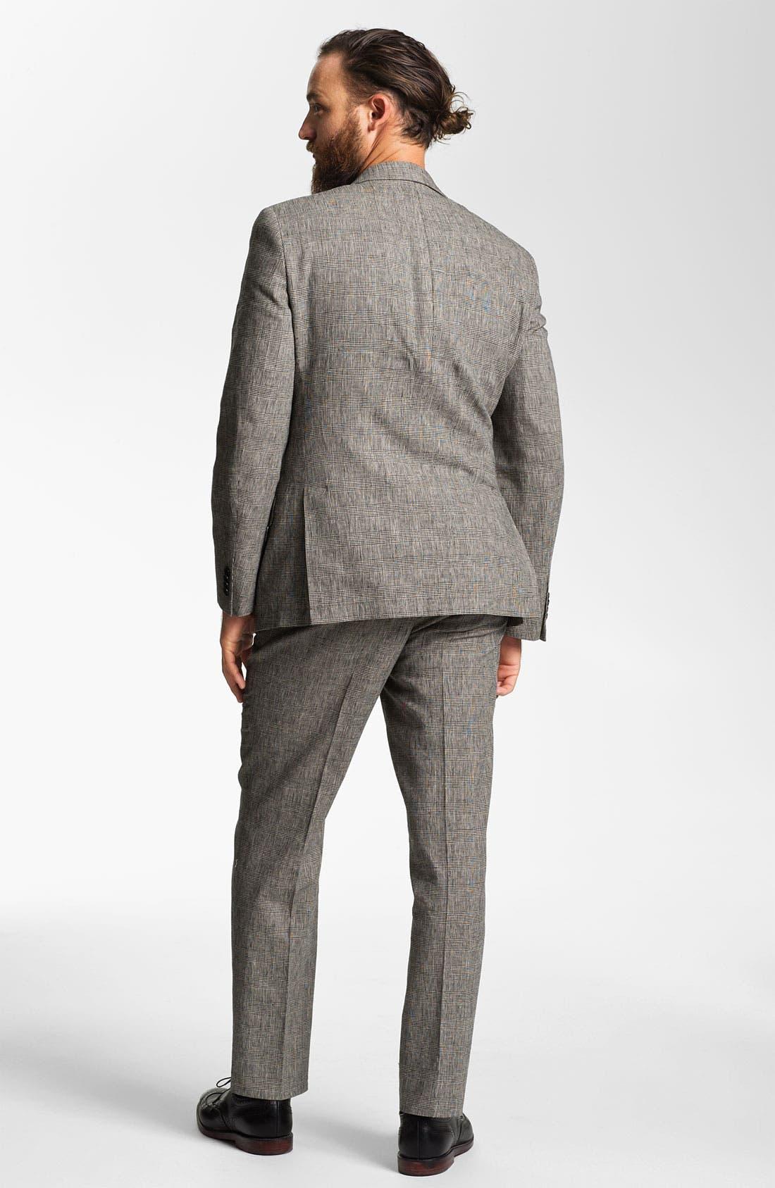 Alternate Image 5  - John Varvatos Star USA Glen Plaid Trousers