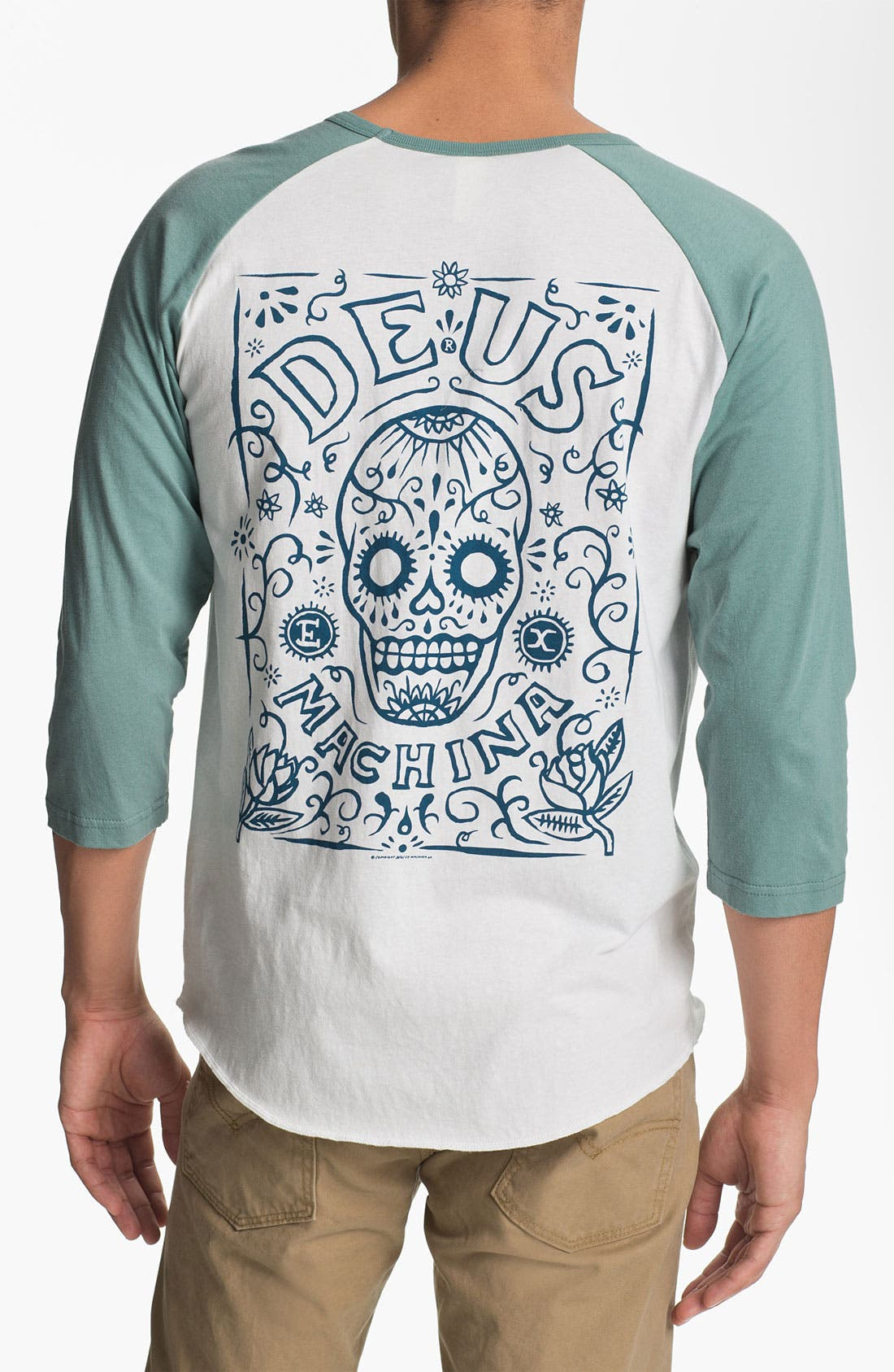 Alternate Image 2  - Deus Ex Machina 'Deus of the Dead' Graphic Baseball T-Shirt