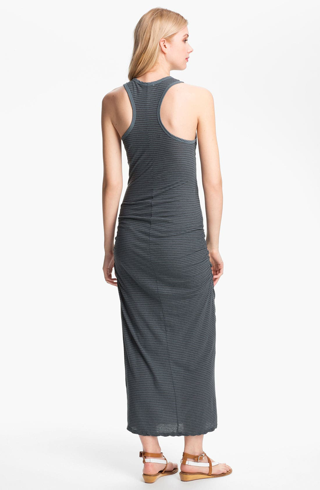 Alternate Image 2  - James Perse Stripe Ruched Maxi Tank Dress
