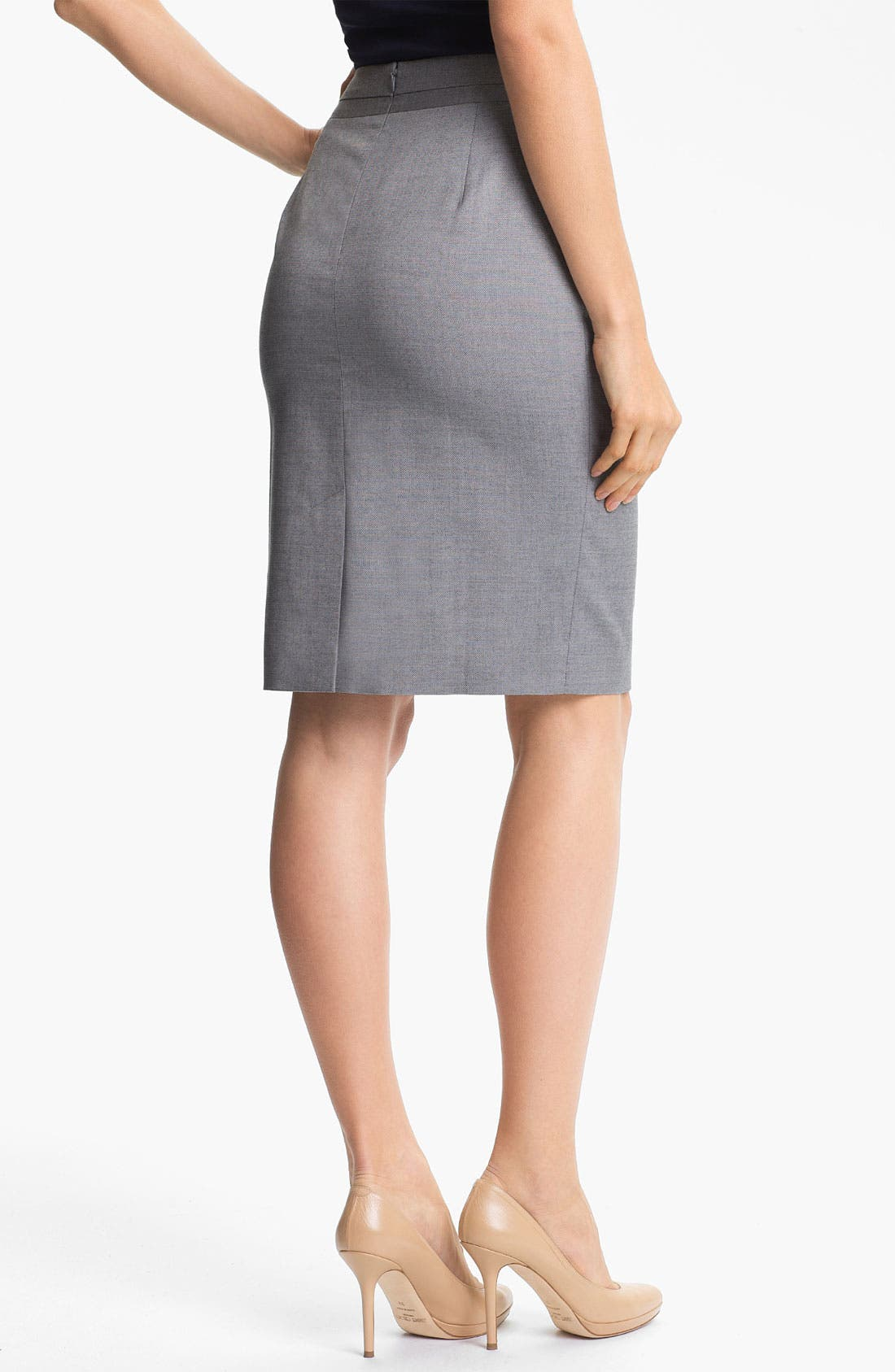 Alternate Image 2  - Classiques Entier 'Platine Weave' Skirt