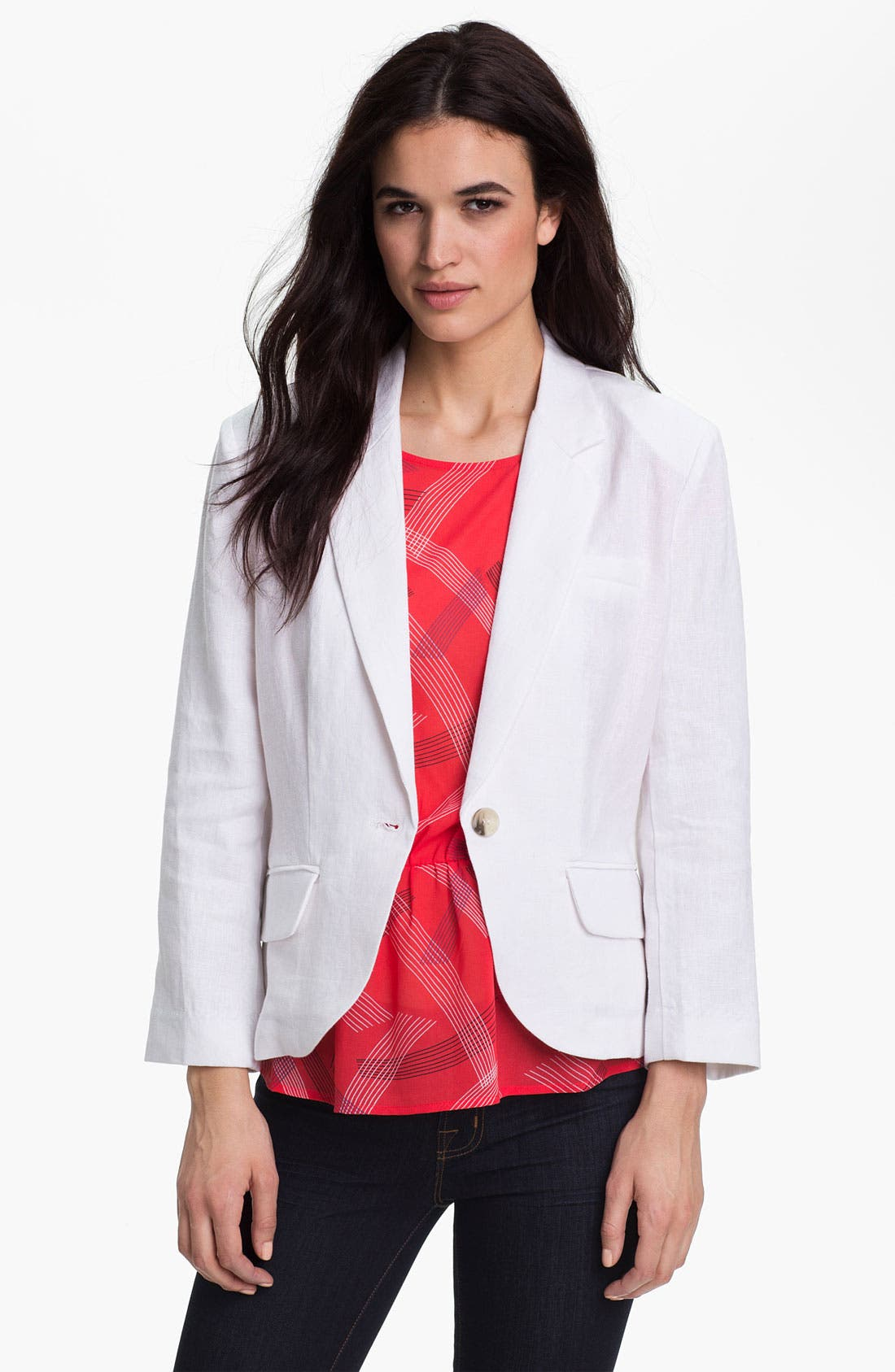 Alternate Image 1 Selected - Olivia Moon Linen Jacket