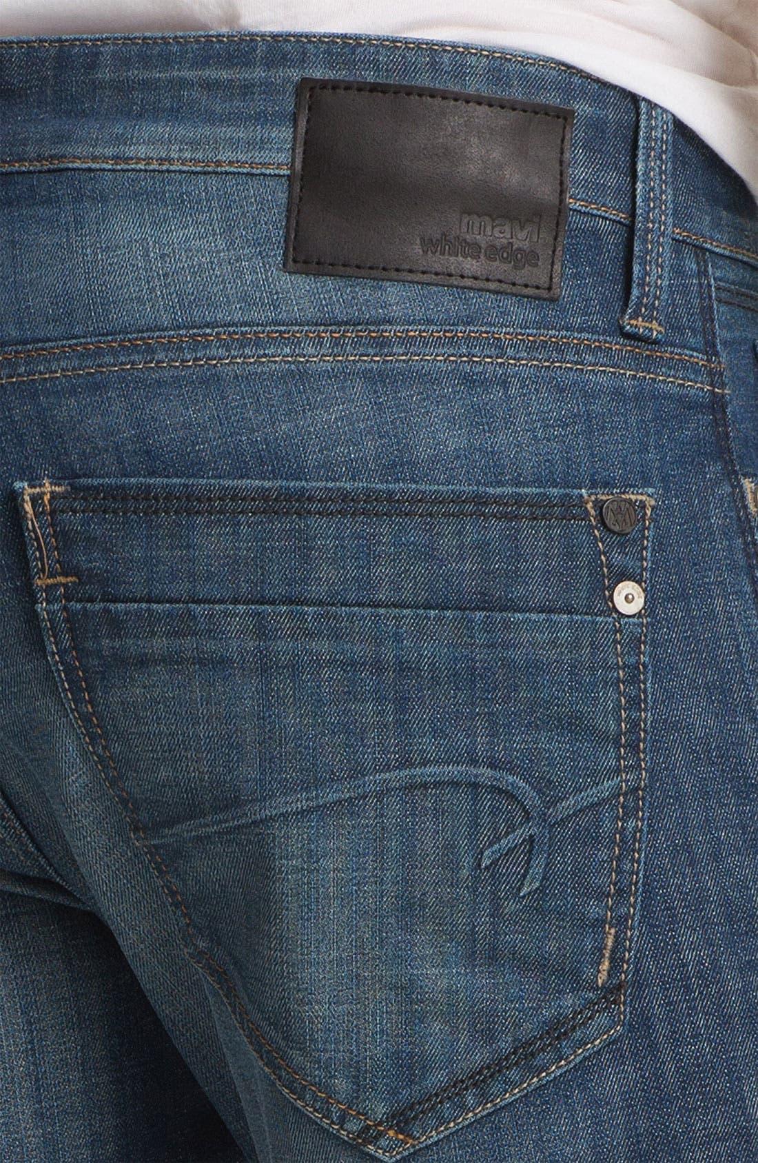Alternate Image 4  - Mavi Jeans 'Zach' Straight Leg Jeans (Mid White Edge)