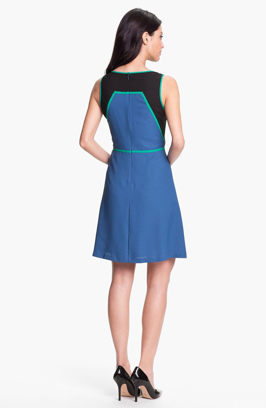 Alternate Image 2  - Marc New York by Andrew Marc Colorblock Fit & Flare Dress