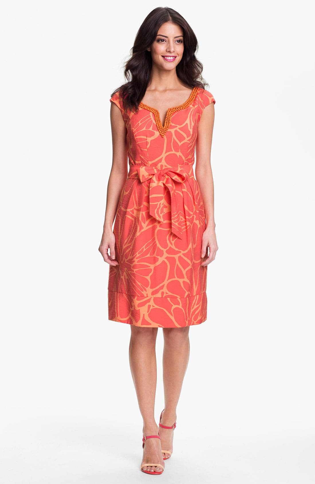 Main Image - Adrianna Papell Embellished Print Dress