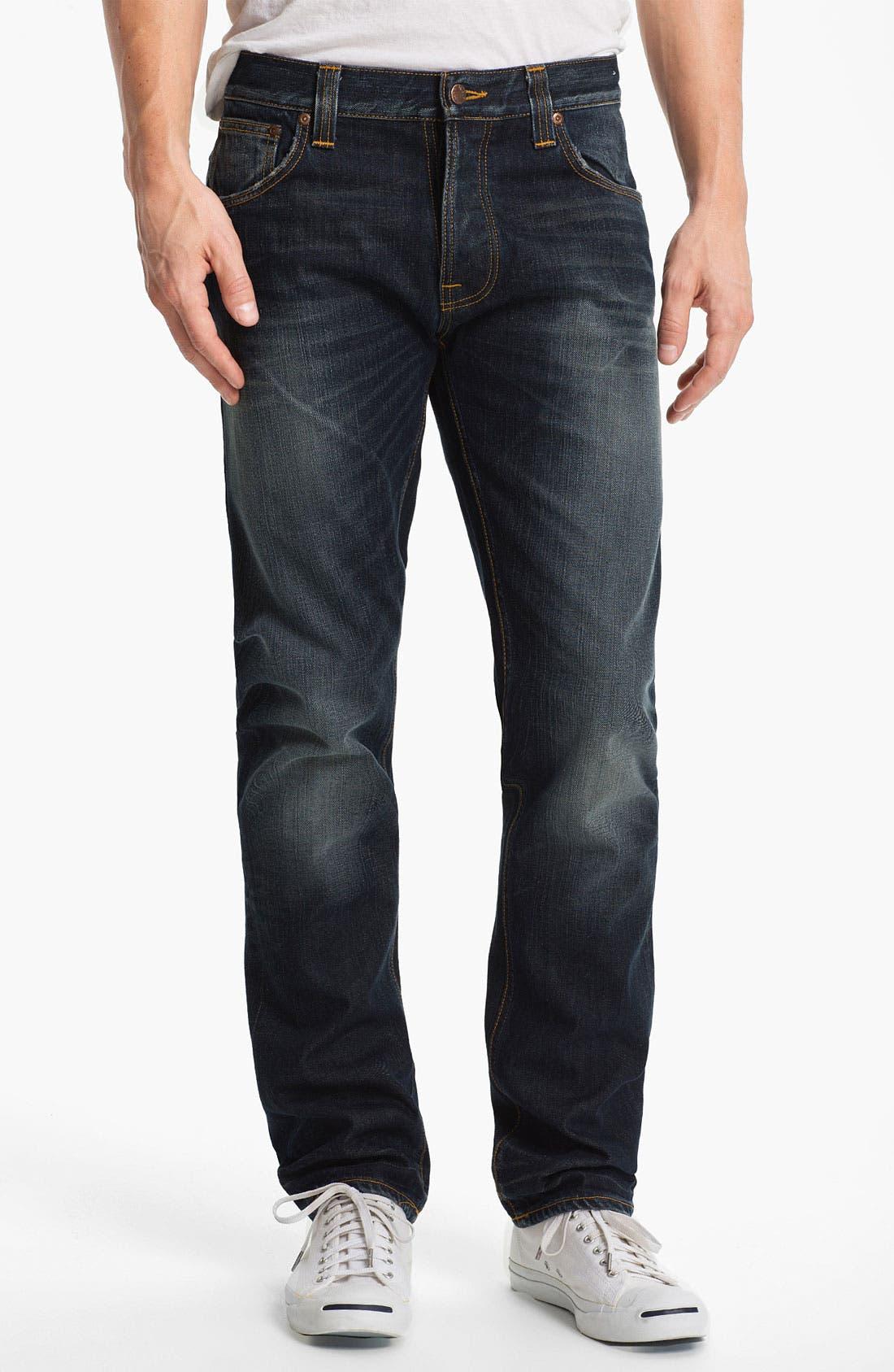 Alternate Image 2  - Nudie 'Hank Rey' Straight Leg Jeans (Organic Indigo Depth)