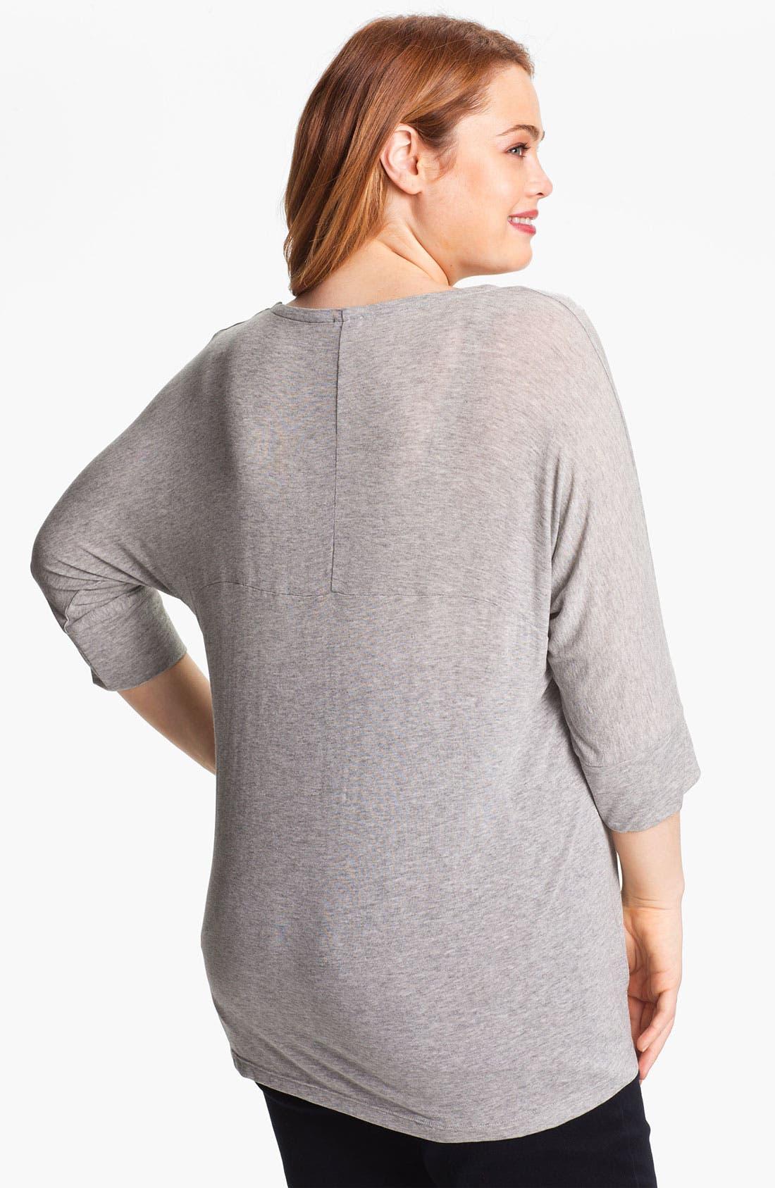 Alternate Image 2  - Splendid Dolman Shirt (Plus)