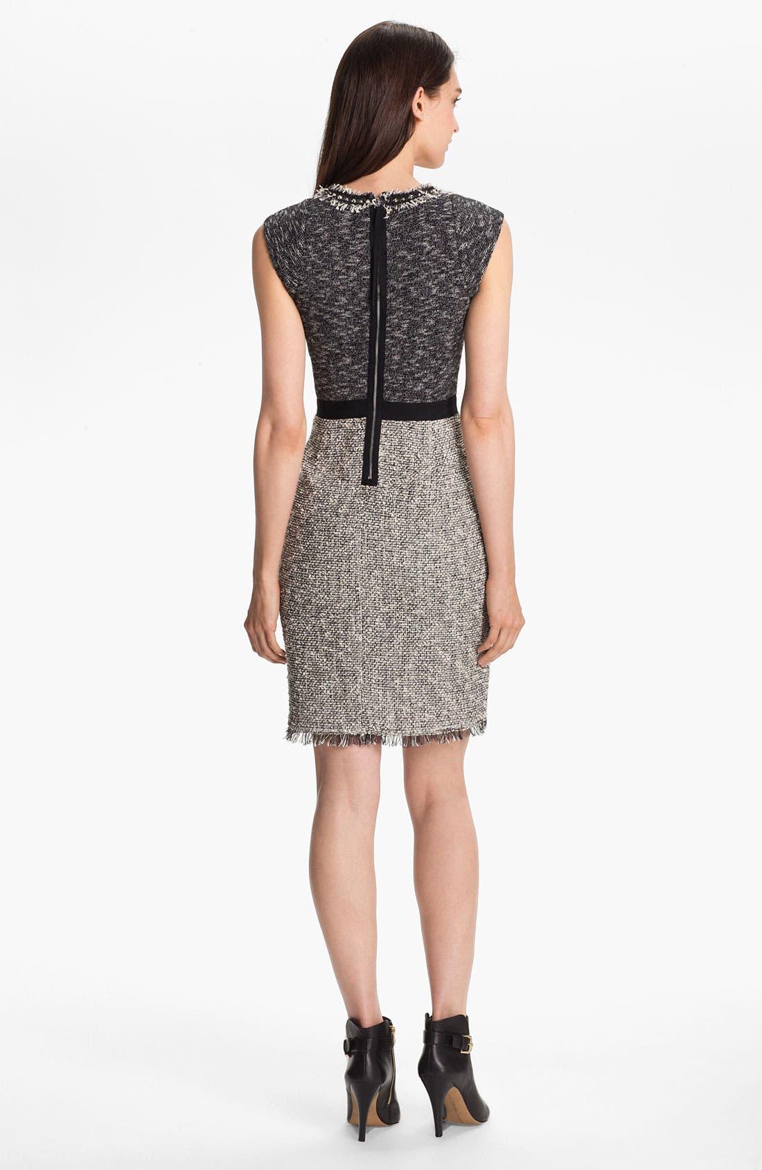 Alternate Image 2  - Rebecca Taylor Tweed Sheath Dress