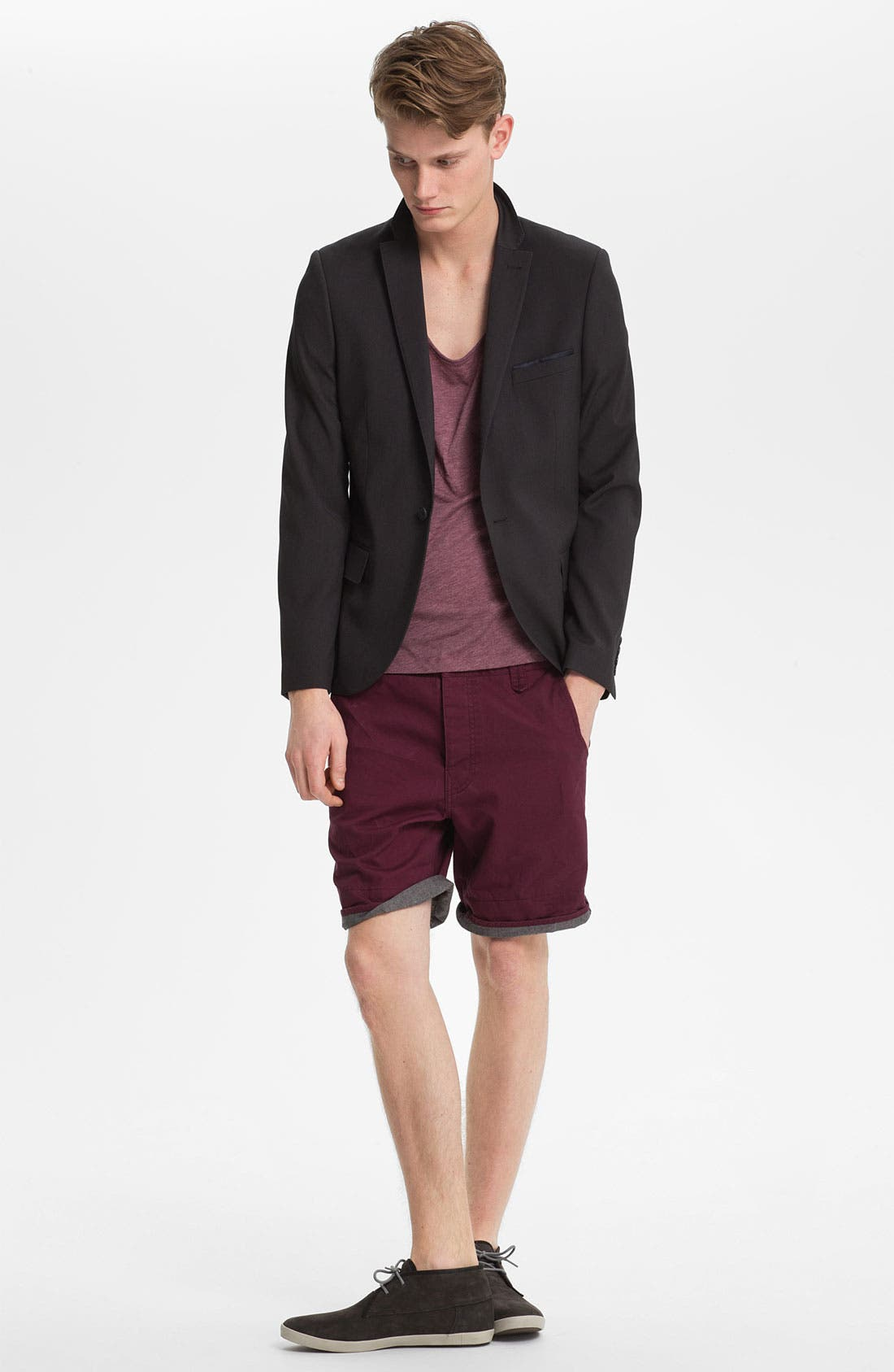 Alternate Image 2  - Topman Turn-Up Chino Shorts