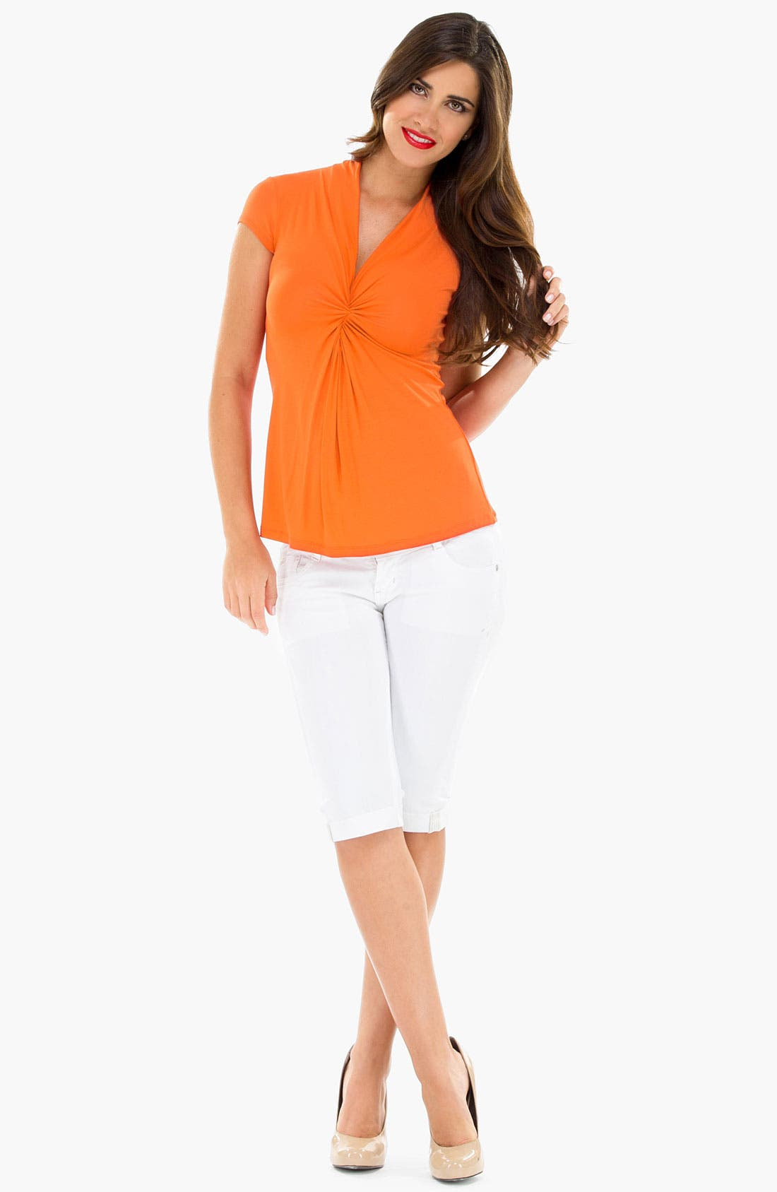 Alternate Image 1 Selected - Olian Cinch Front Maternity Top
