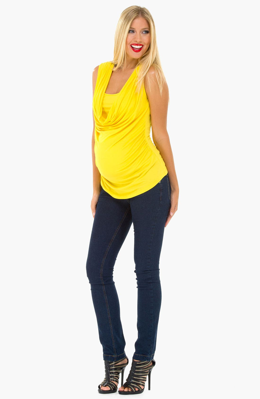 Alternate Image 1 Selected - Olian Cowl Neck Sleeveless Maternity Top