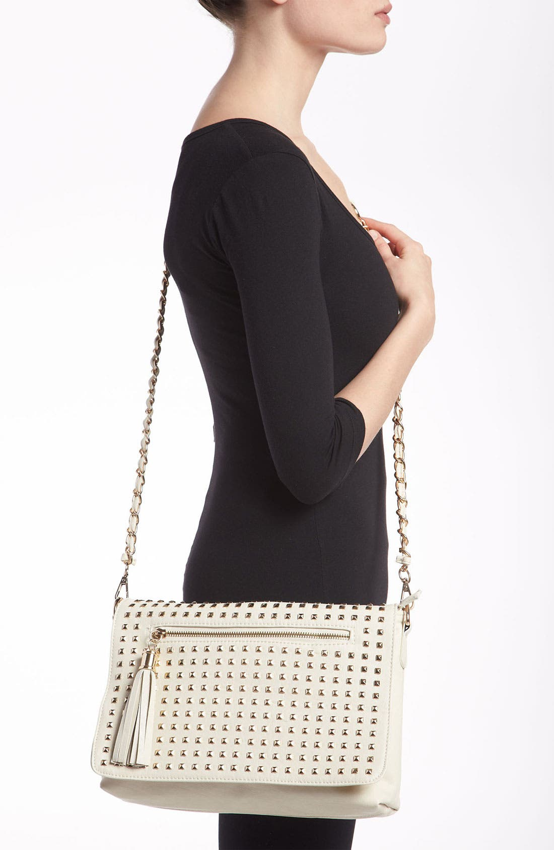 Alternate Image 2  - NB Handbags Studded Convertible Crossbody (Juniors)
