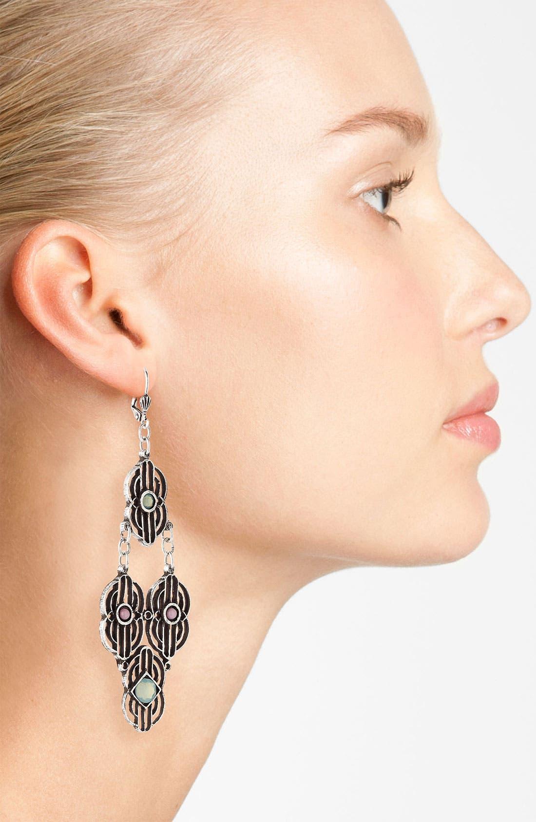 Alternate Image 2  - Bonnie Jonas 'New Deco' Chandelier Earrings