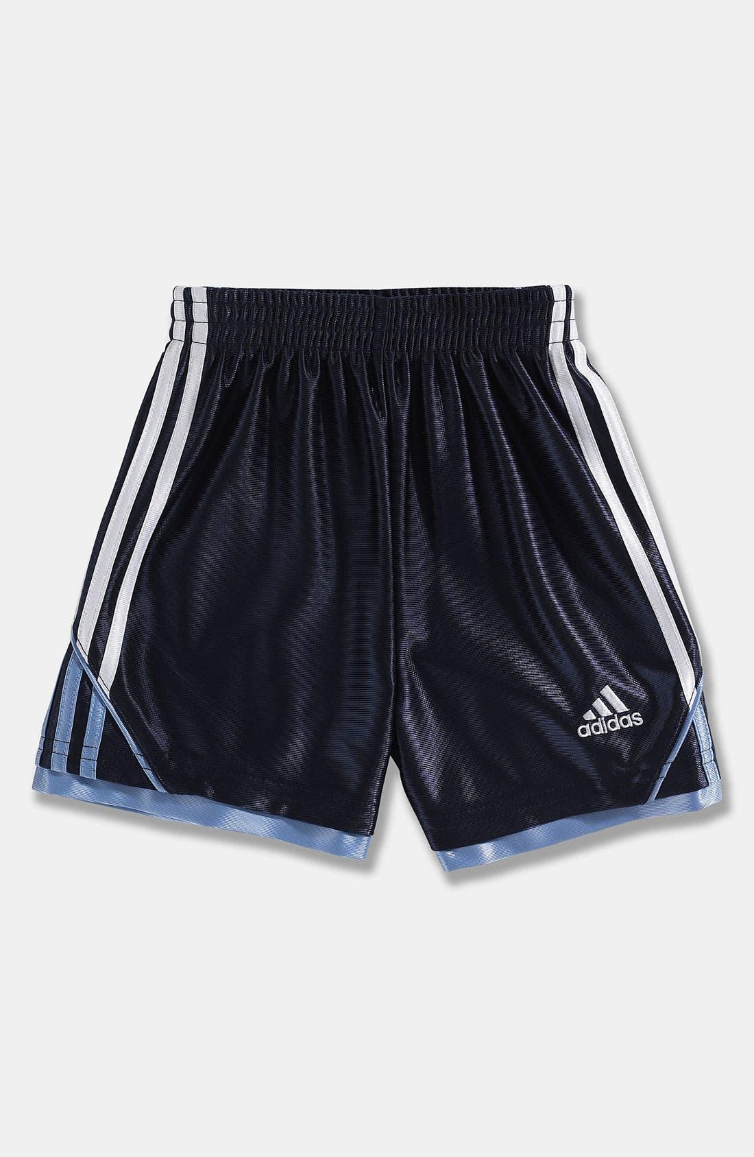 Main Image - adidas 'Prime Dazzle' Shorts (Toddler)