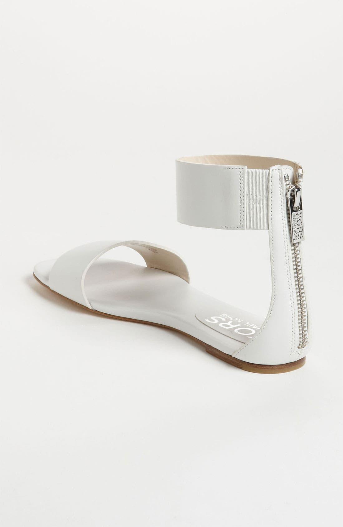 'Ava' Sandal,                             Alternate thumbnail 2, color,                             White