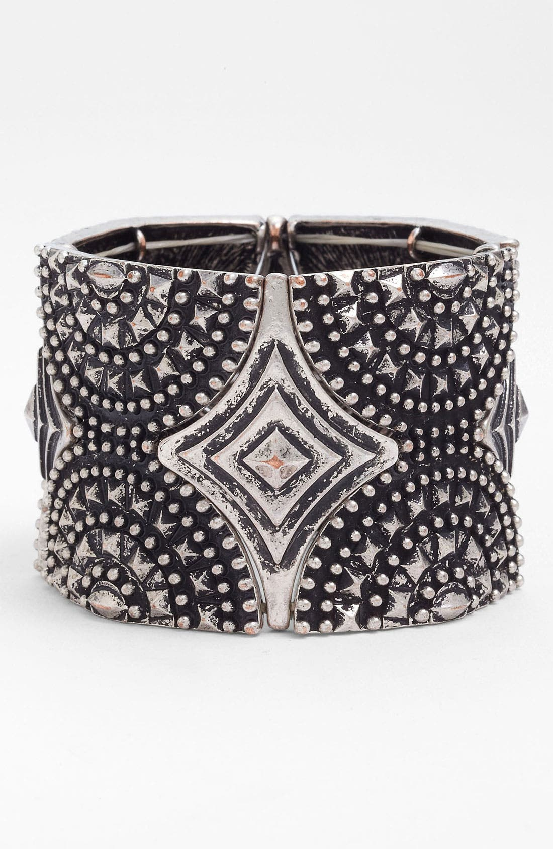 Main Image - Spring Street Studded Stretch Cuff