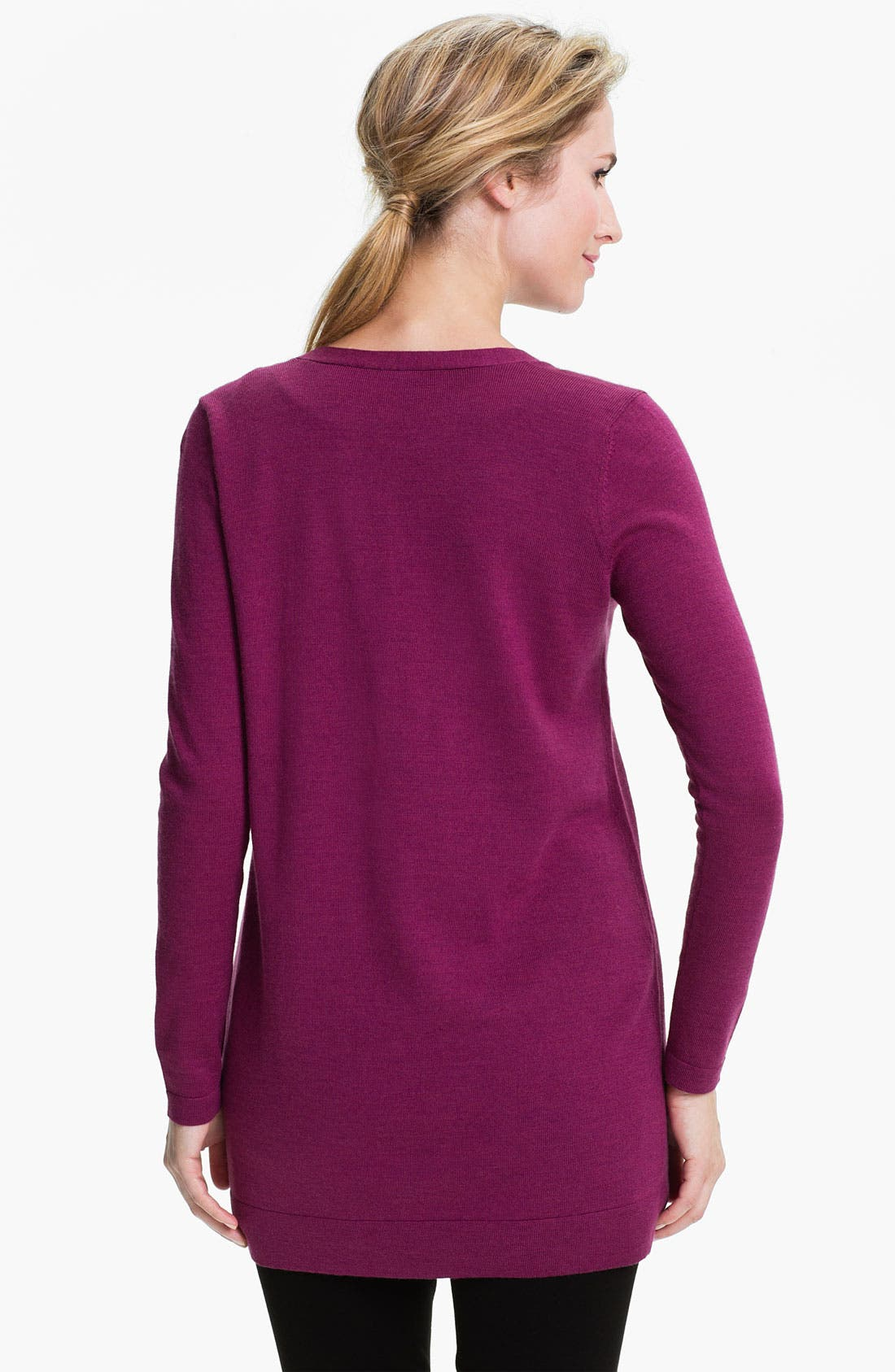 Alternate Image 2  - Eileen Fisher Merino Boyfriend Cardigan (Petite)