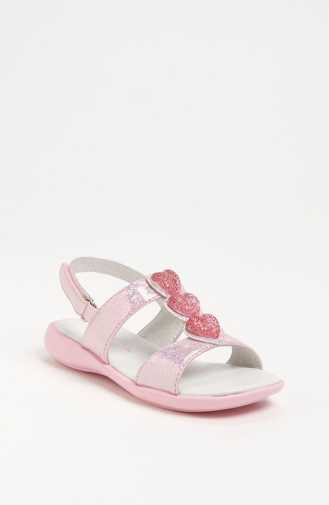 Alternate Image 1 Selected - Nina 'Clarina' Heart Sandal (Walker & Toddler)