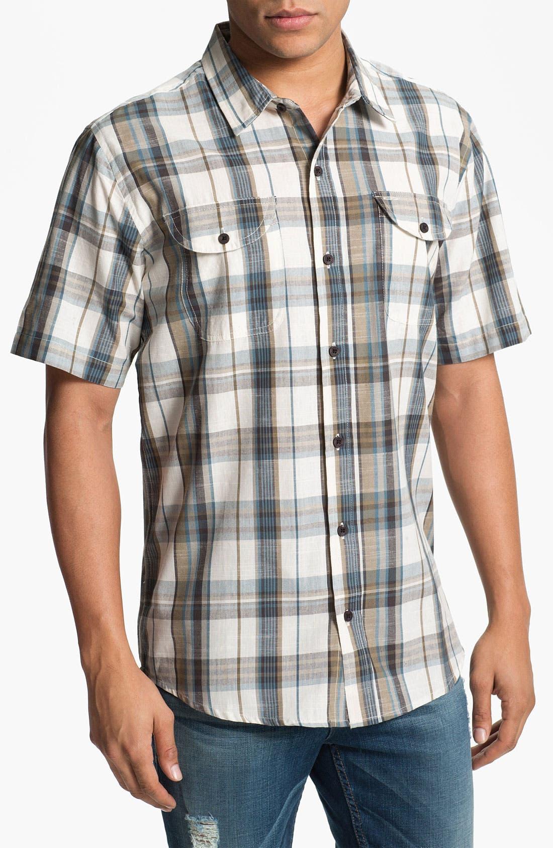 Alternate Image 1 Selected - Ezekiel 'Woodhouse' Short Sleeve Plaid Woven Shirt