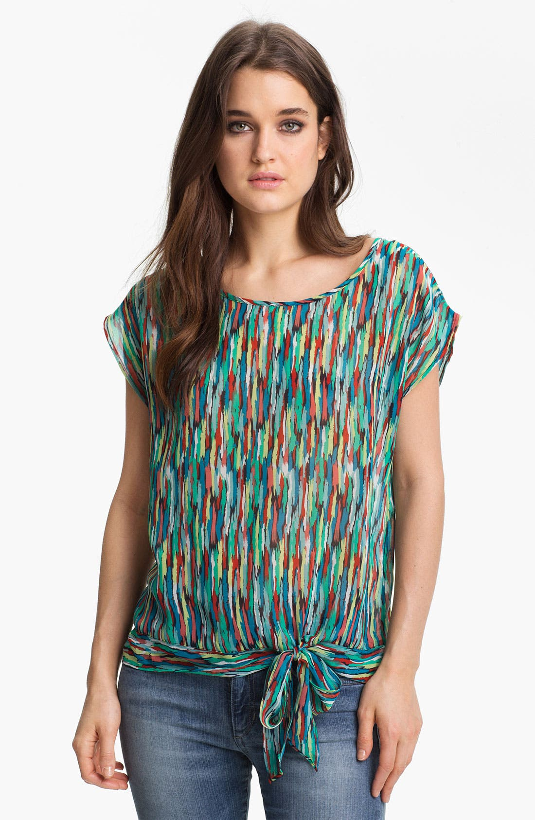 Alternate Image 1 Selected - Trouvé Print Tie Hem Top