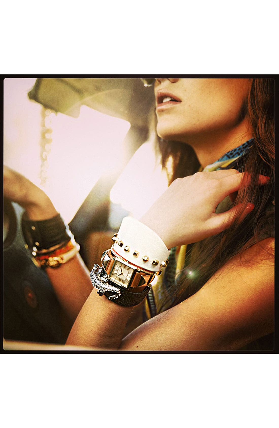 Alternate Image 2  - Vince Camuto Studded Leather Cuff