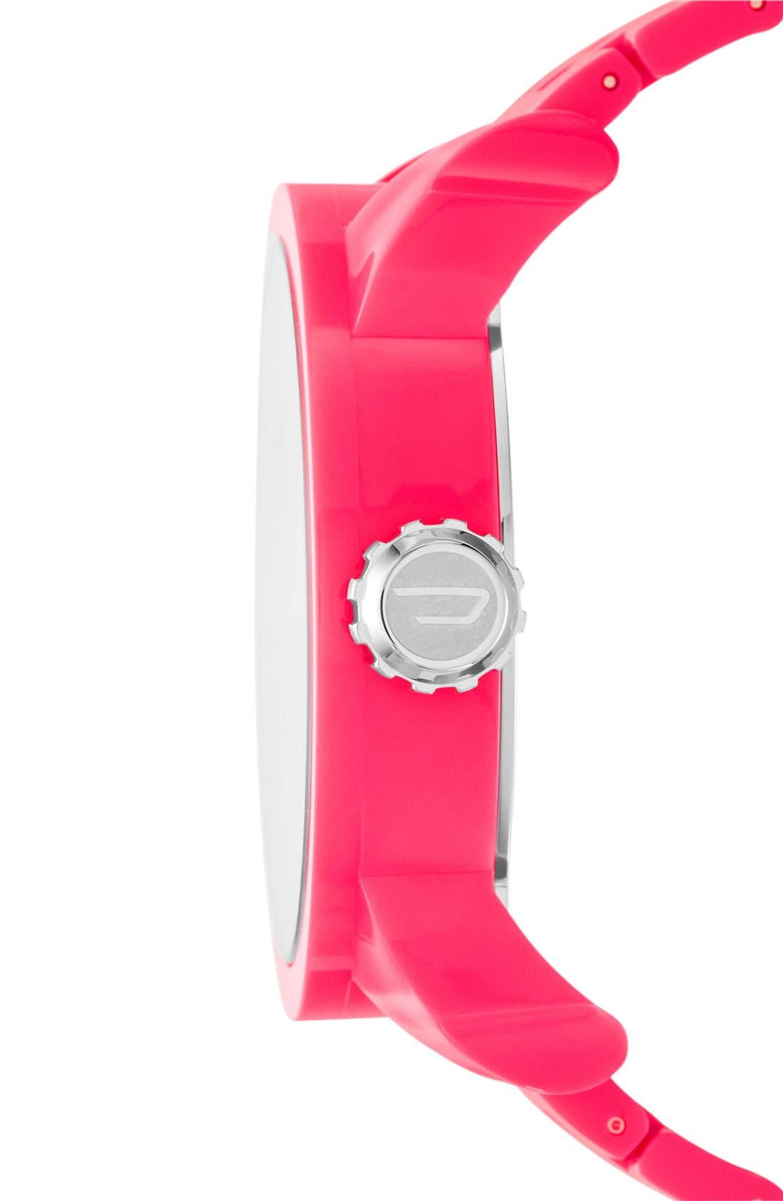 Alternate Image 2  - DIESEL® 'Franchise' Oversized Round Bracelet Watch, 59mm x 67mm
