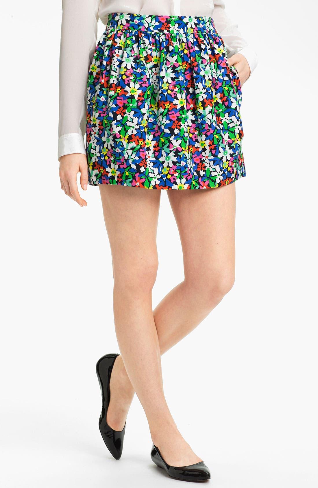 Alternate Image 1 Selected - kate spade new york 'henrita' print skirt