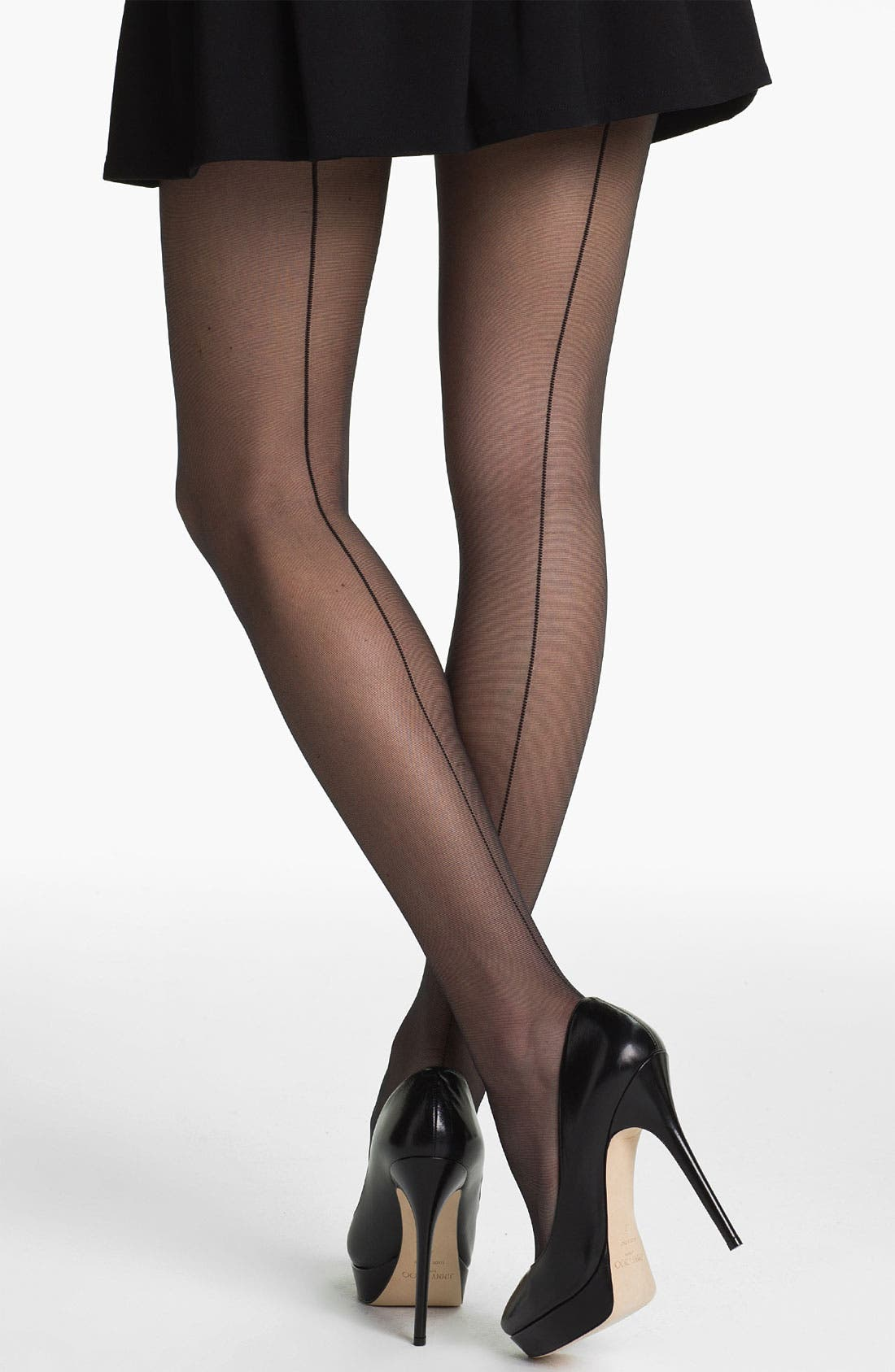 Main Image - Pretty Polly 10 Denier Back Seam Pantyhose