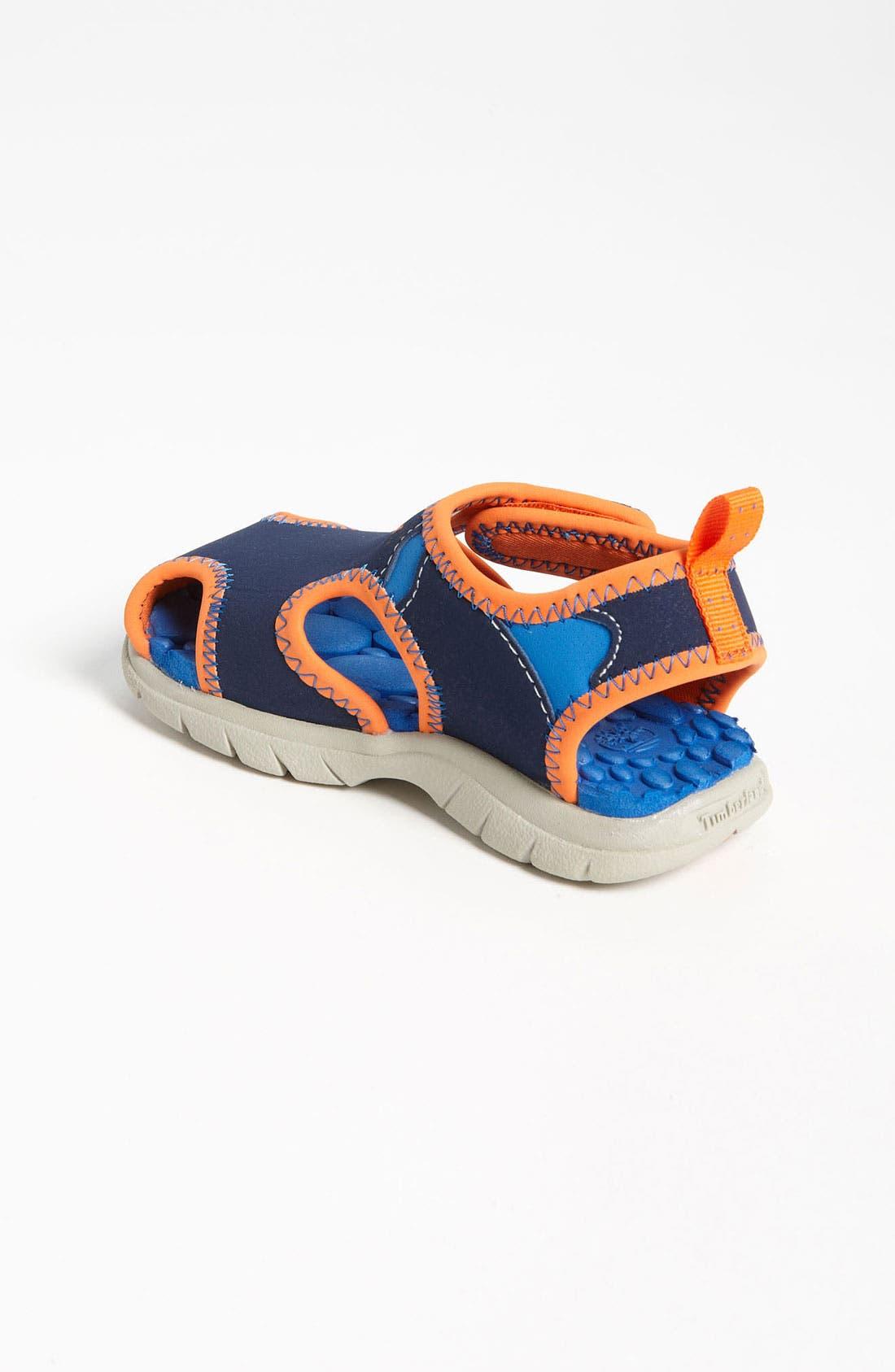 'Little Harbor' Sandal,                             Alternate thumbnail 2, color,                             Navy/ Orange