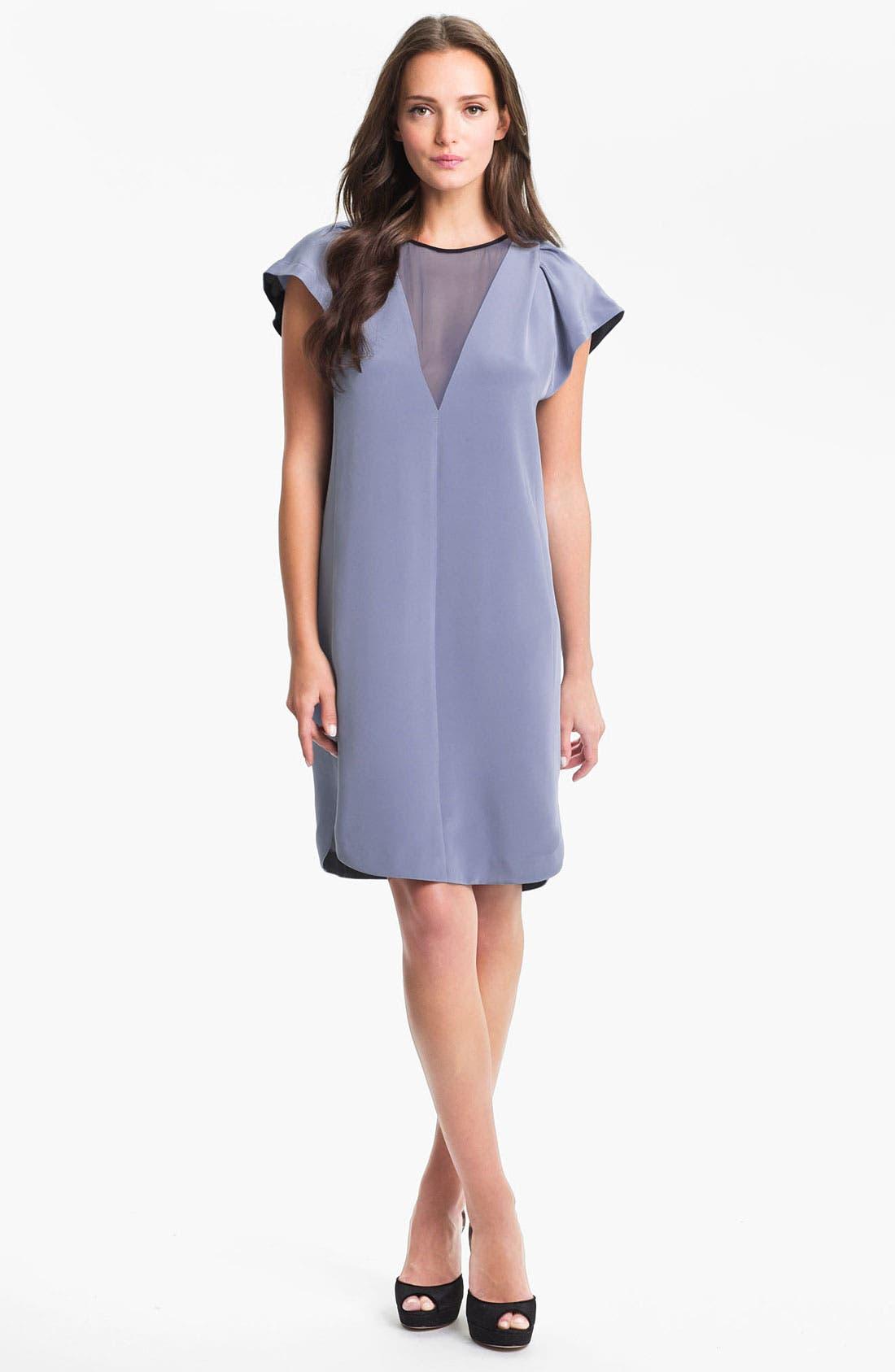Alternate Image 1 Selected - Rebecca Taylor Silk Shift Dress