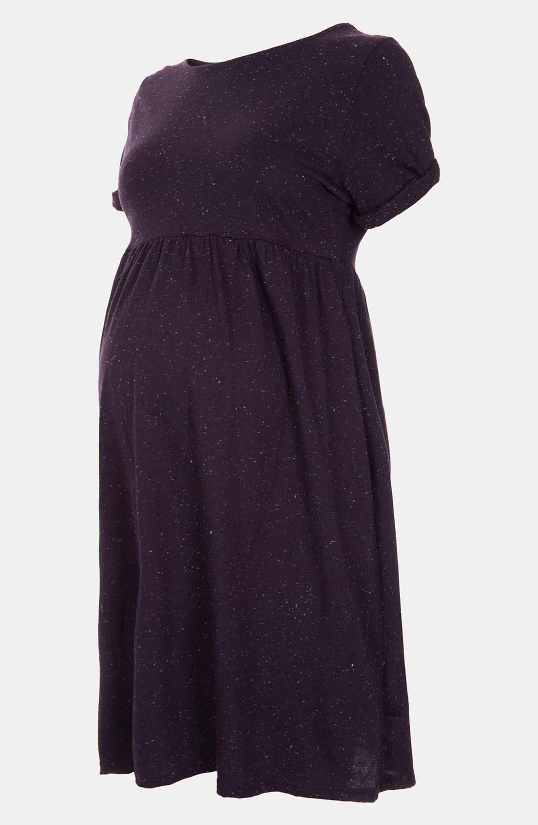 Main Image - Topshop Roll Sleeve Knit Maternity Dress