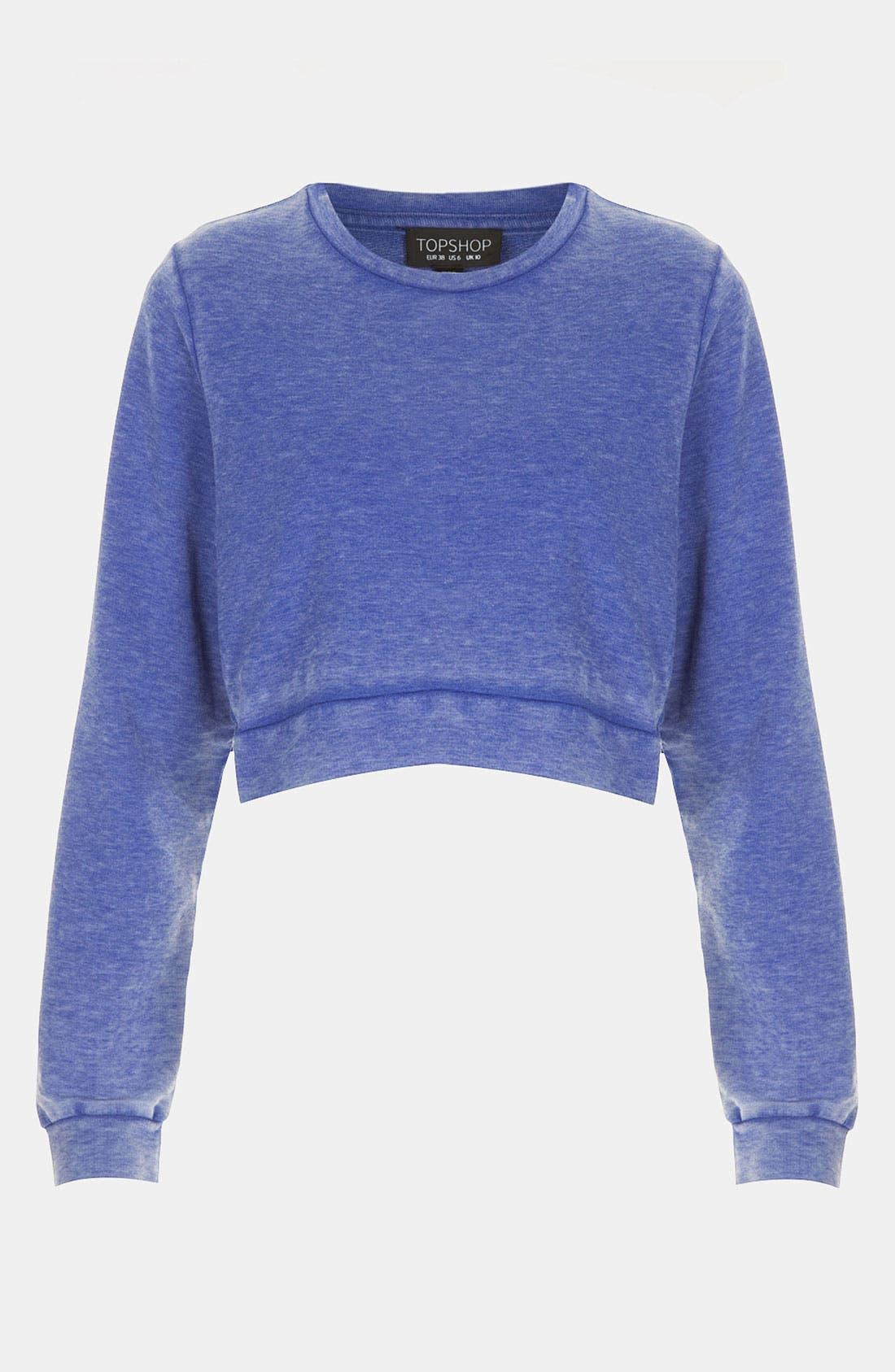 Alternate Image 1 Selected - Topshop Crop Sweatshirt