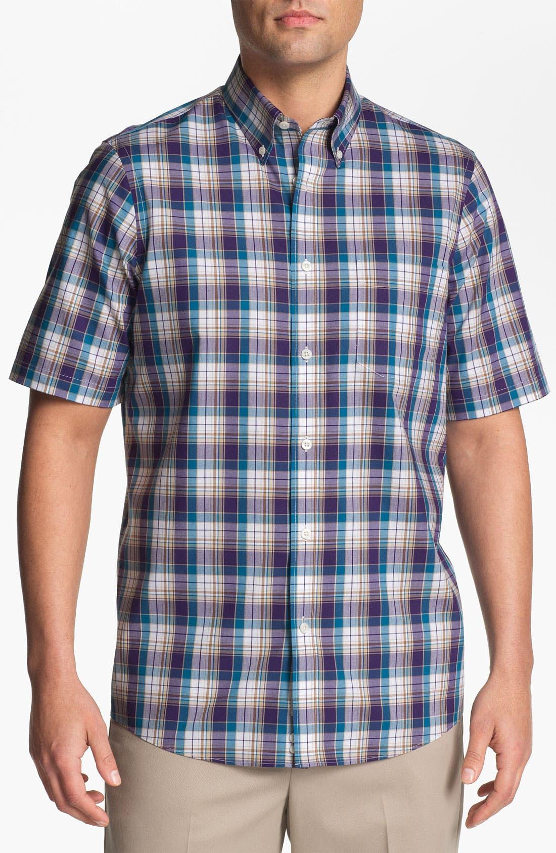 Alternate Image 1 Selected - Nordstrom Smartcare™ Regular Fit Short Sleeve Sport Shirt
