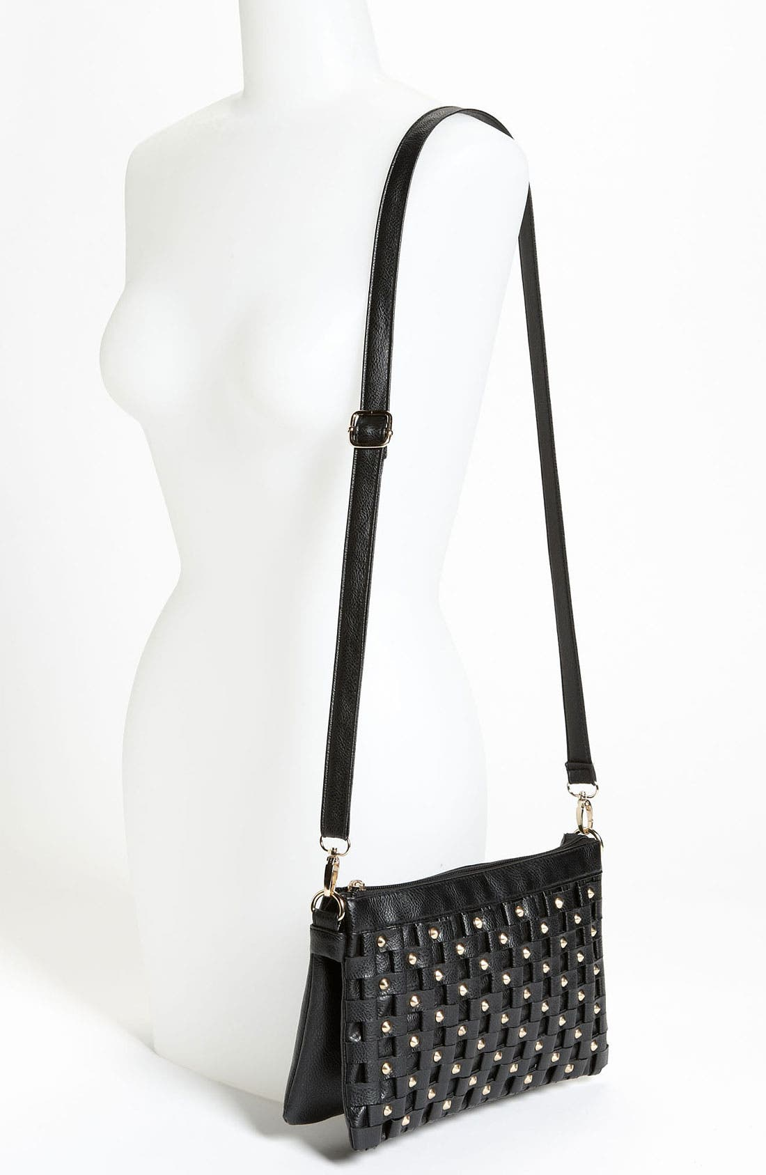 Alternate Image 2  - Top Choice Studded Faux Leather Crossbody Clutch