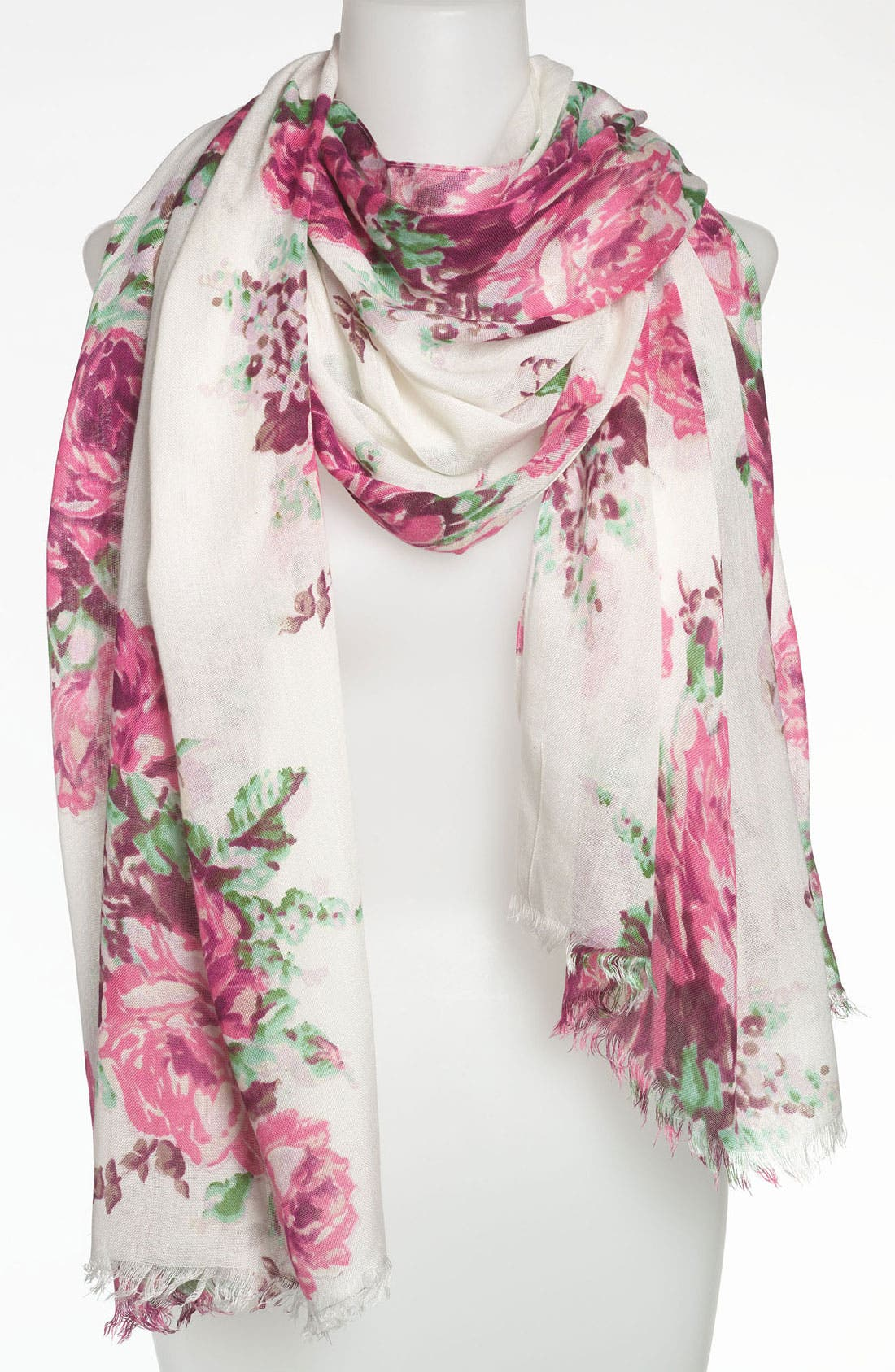 Alternate Image 1 Selected - Betsey Johnson Floral Scarf