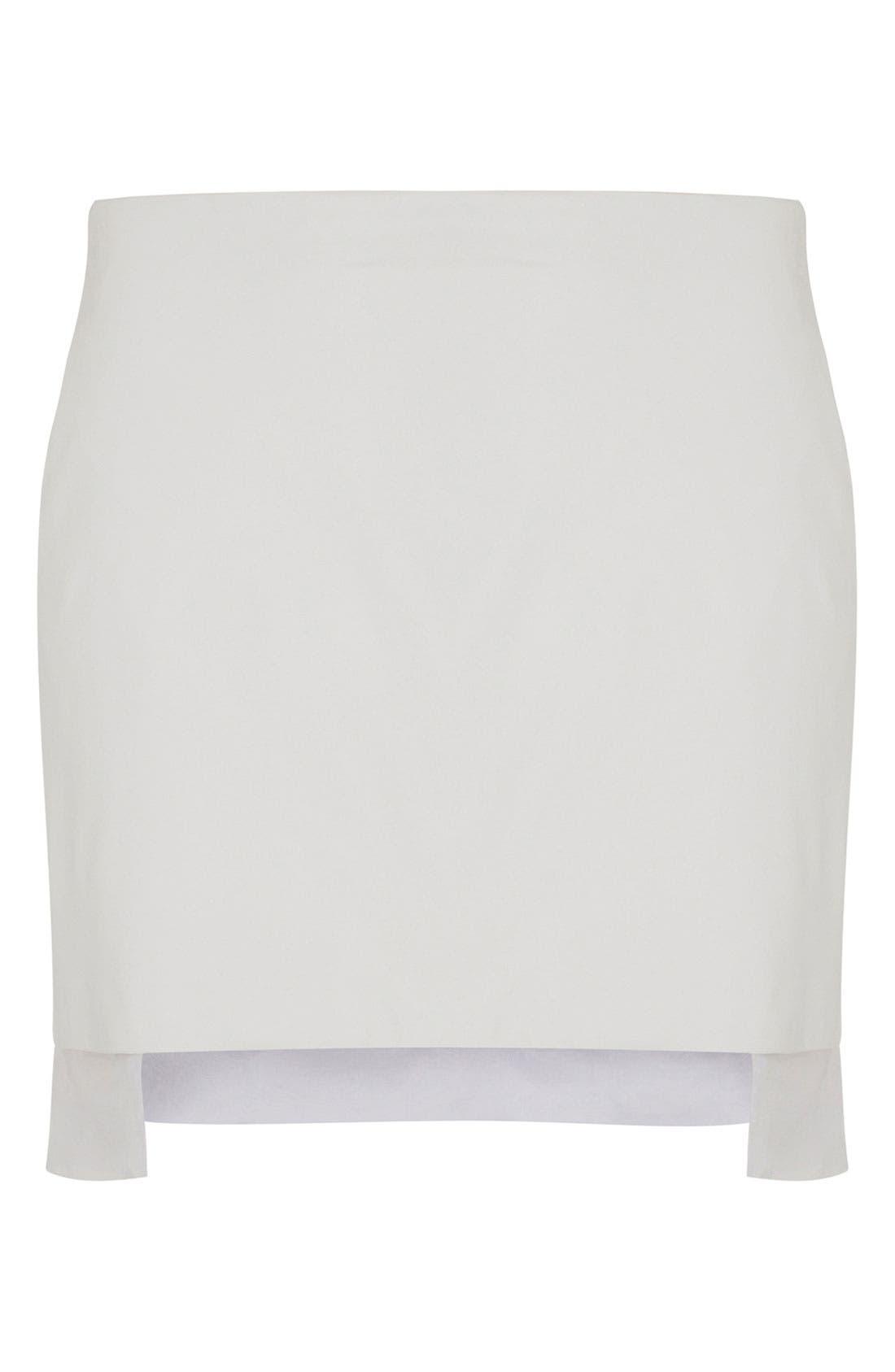 Main Image - Topshop Unique Leather Skirt