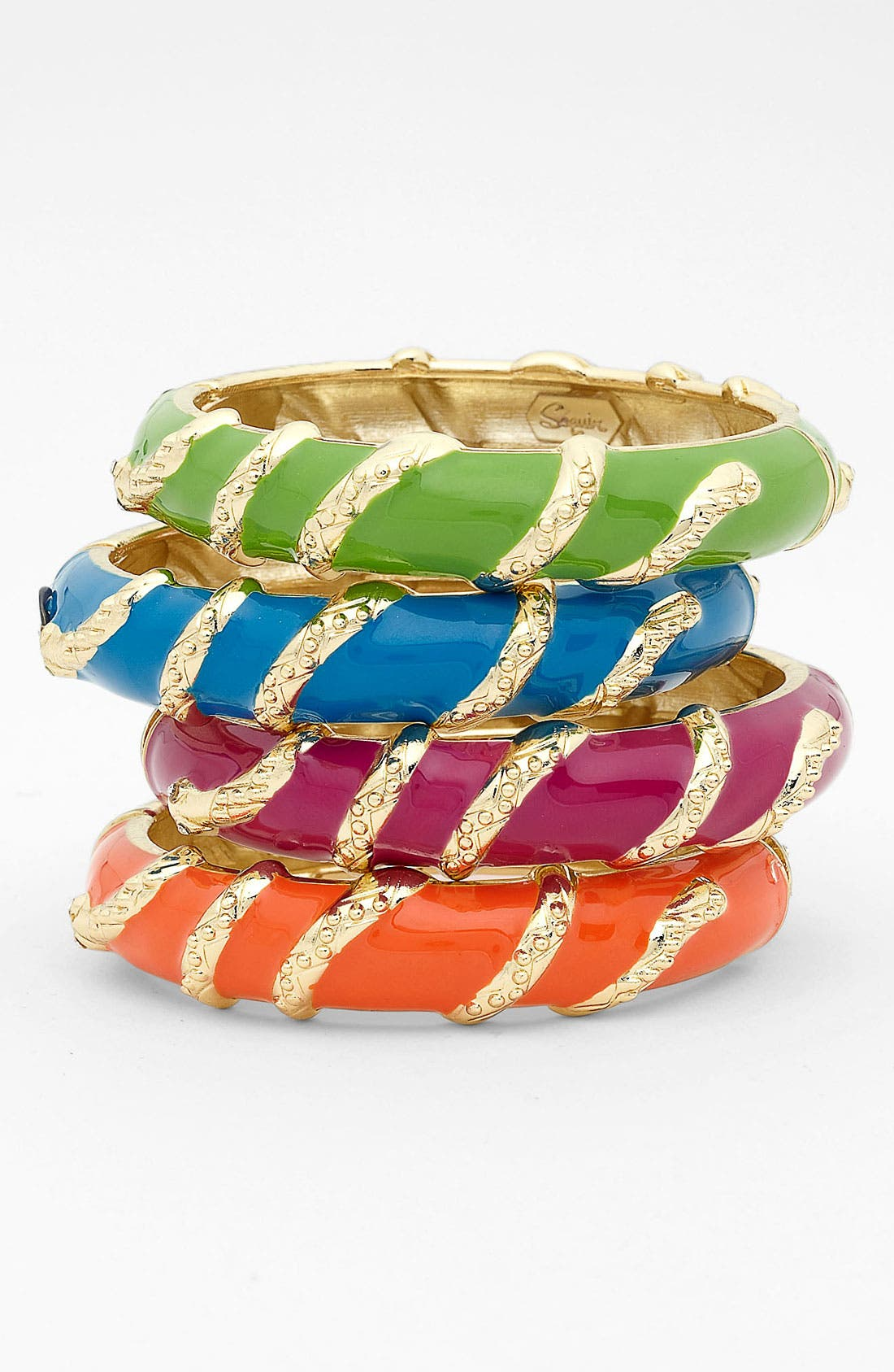 Alternate Image 1 Selected - Sequin Snake Hinged Bangle