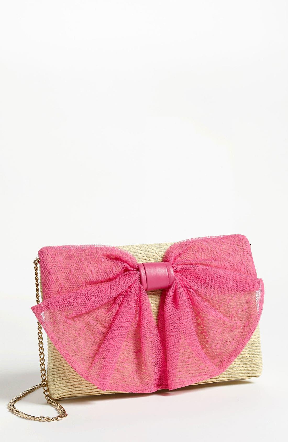 Main Image - RED Valentino 'Bow' Straw Crossbody Bag