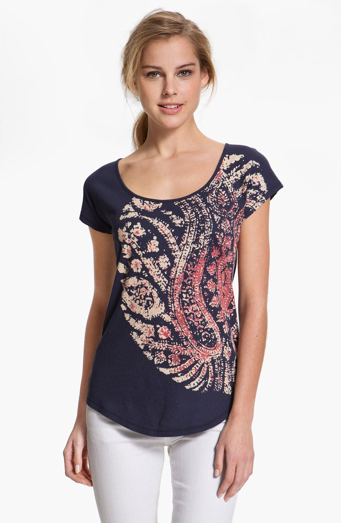 Alternate Image 1 Selected - Lucky Brand 'Woodblock Mandala' Tee
