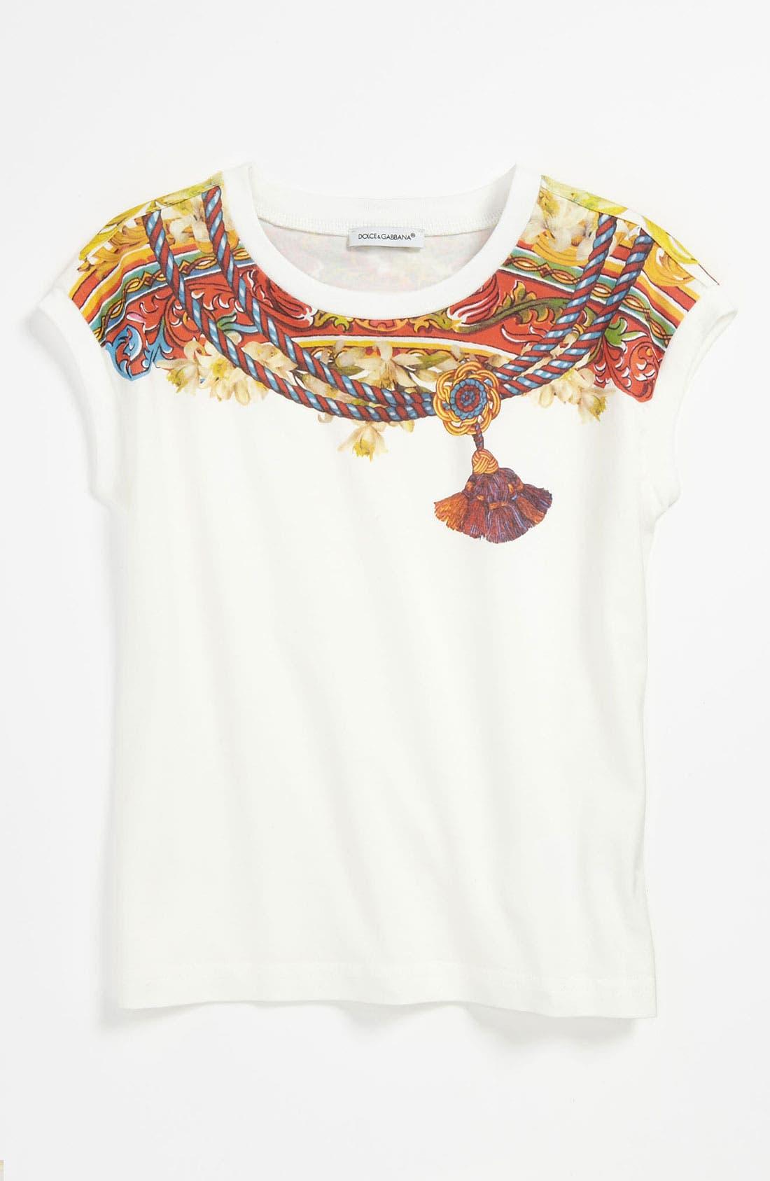Main Image - Dolce&Gabbana 'Sicilia' Jersey Tee (Little Girls & Big Girls)