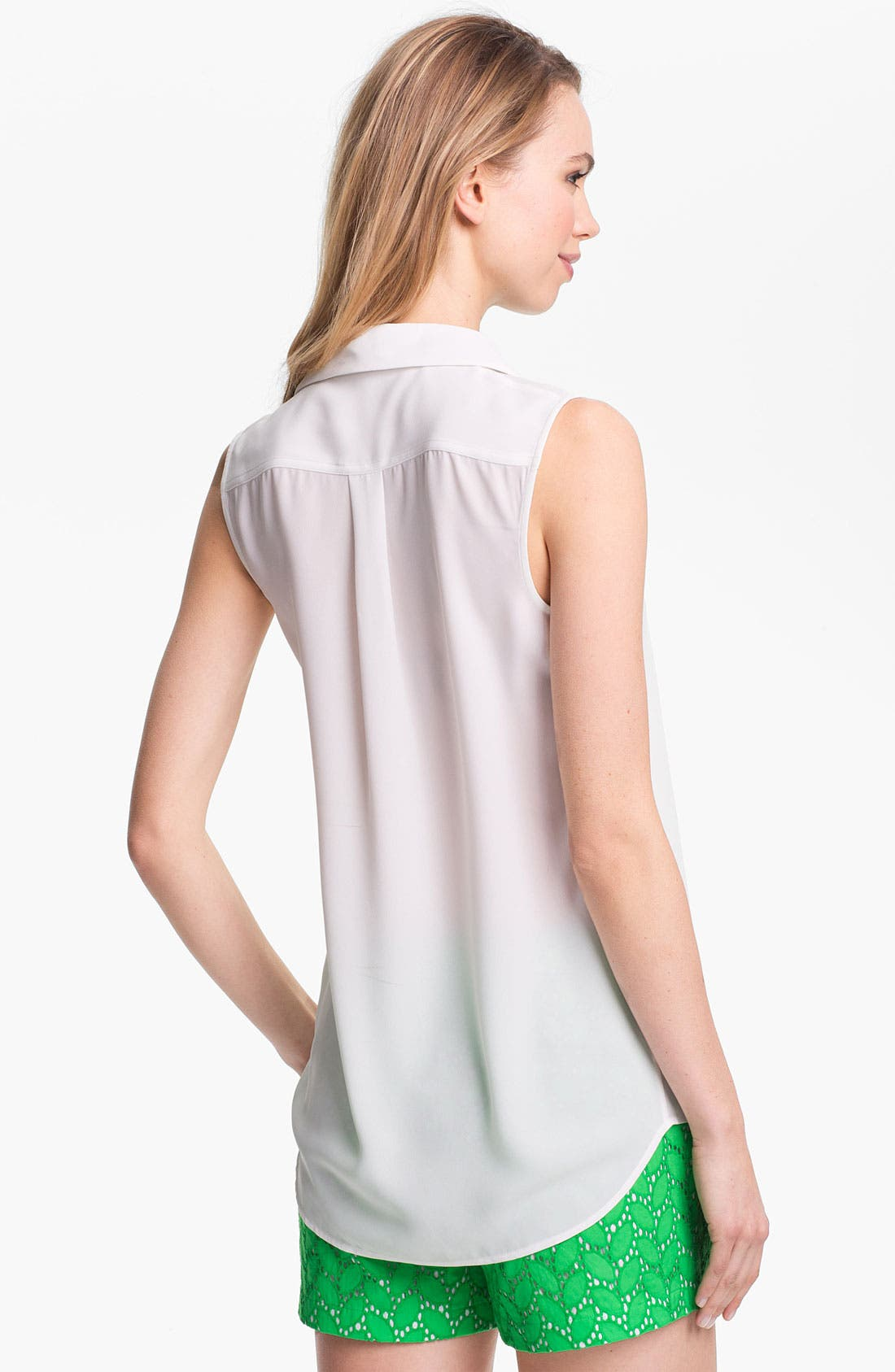 Alternate Image 2  - Vince Camuto Contrast Trim Sleeveless Blouse