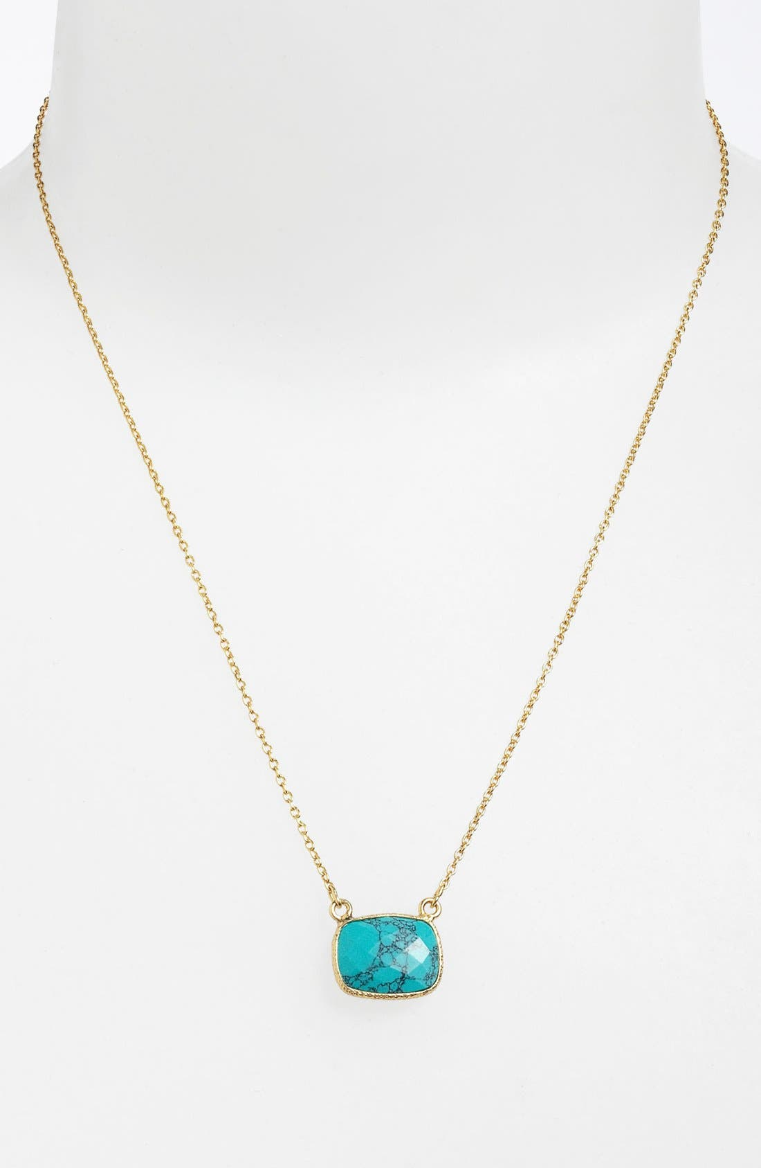 Main Image - Argento Vivo 'Bauble Bar' Stone Pendant Necklace (Nordstrom Exclusive)