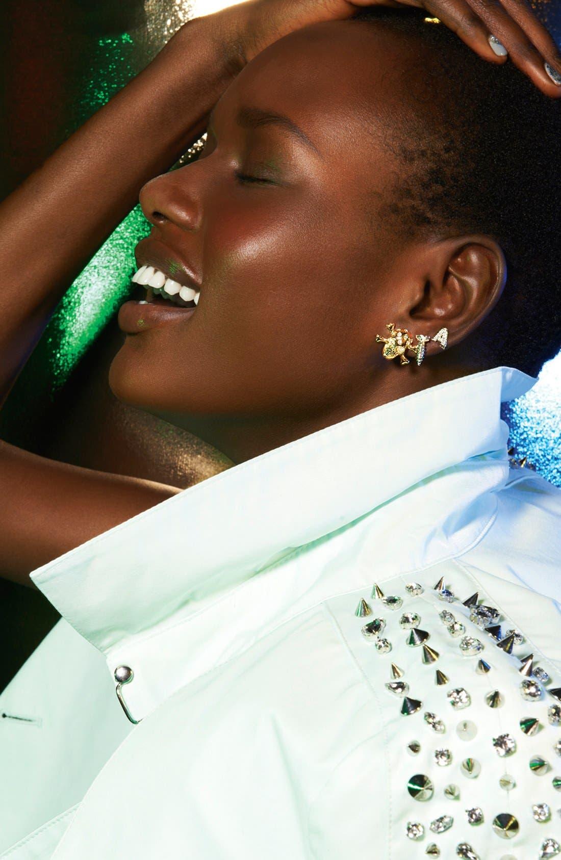 Alternate Image 2  - Nadri 'Novelty' Initial Stud Earrings (Nordstrom Exclusive)