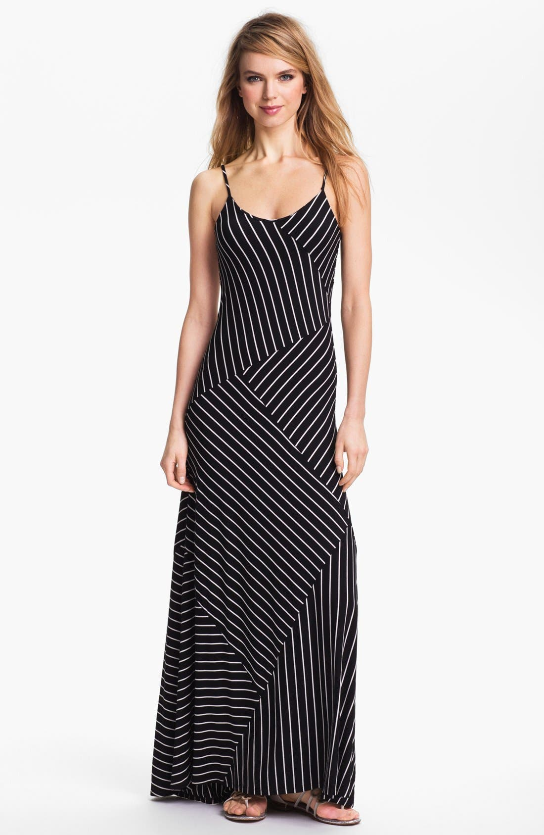 Main Image - Vince Camuto Banded Stripe Maxi Dress