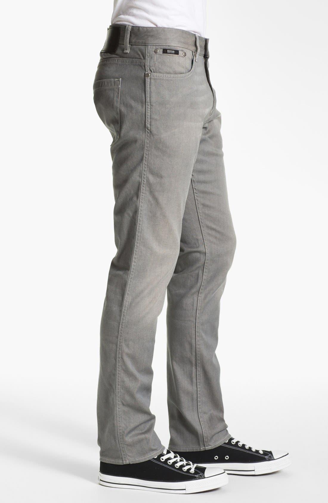 Alternate Image 3  - BOSS HUGO BOSS 'Delaware' Slim Fit Jeans (Grey Denim)